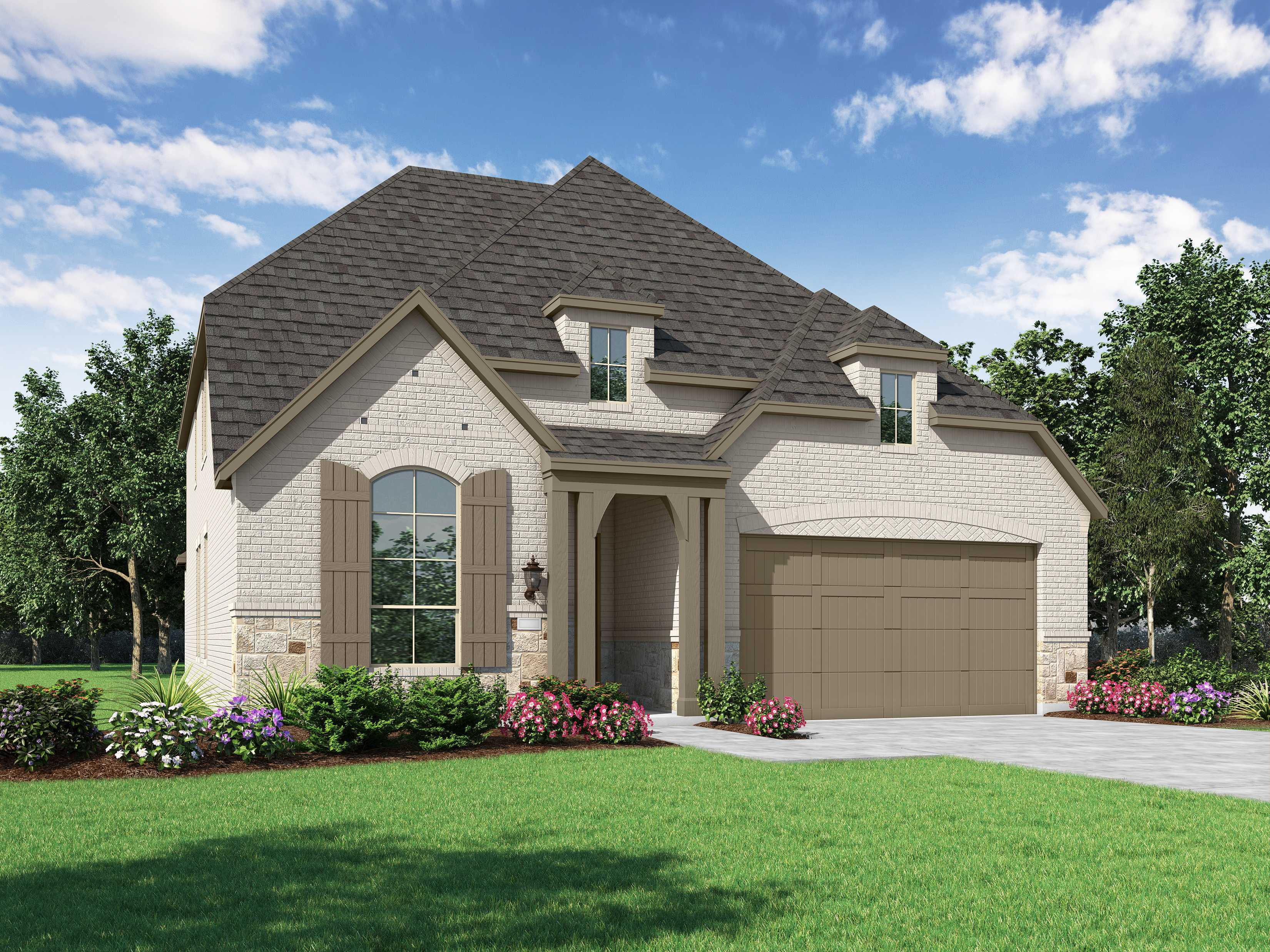Exterior featured in the Plan Wakefield By Highland Homes in Houston, TX