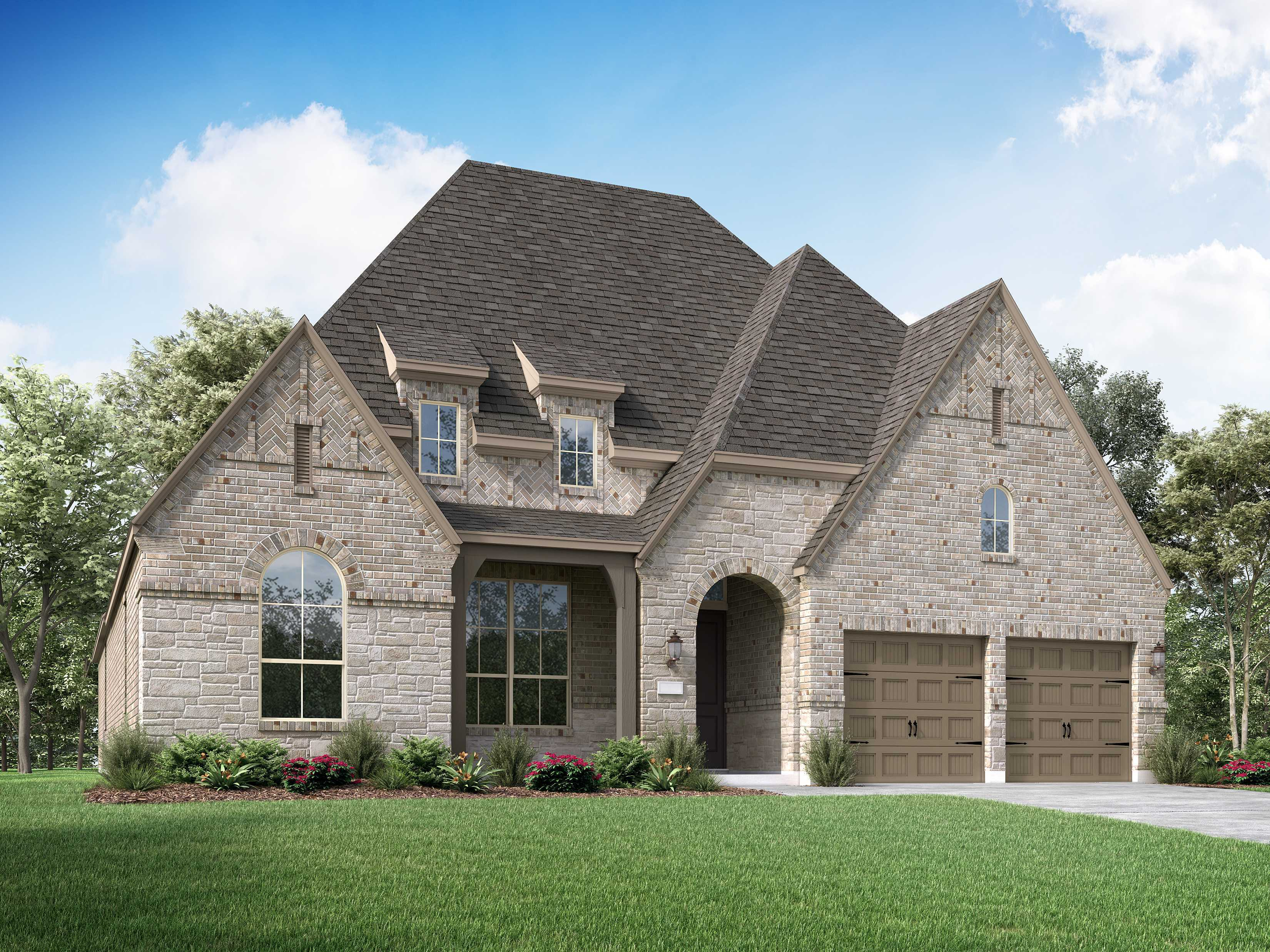 Exterior featured in the Plan 214 By Huntington Homes in Houston, TX