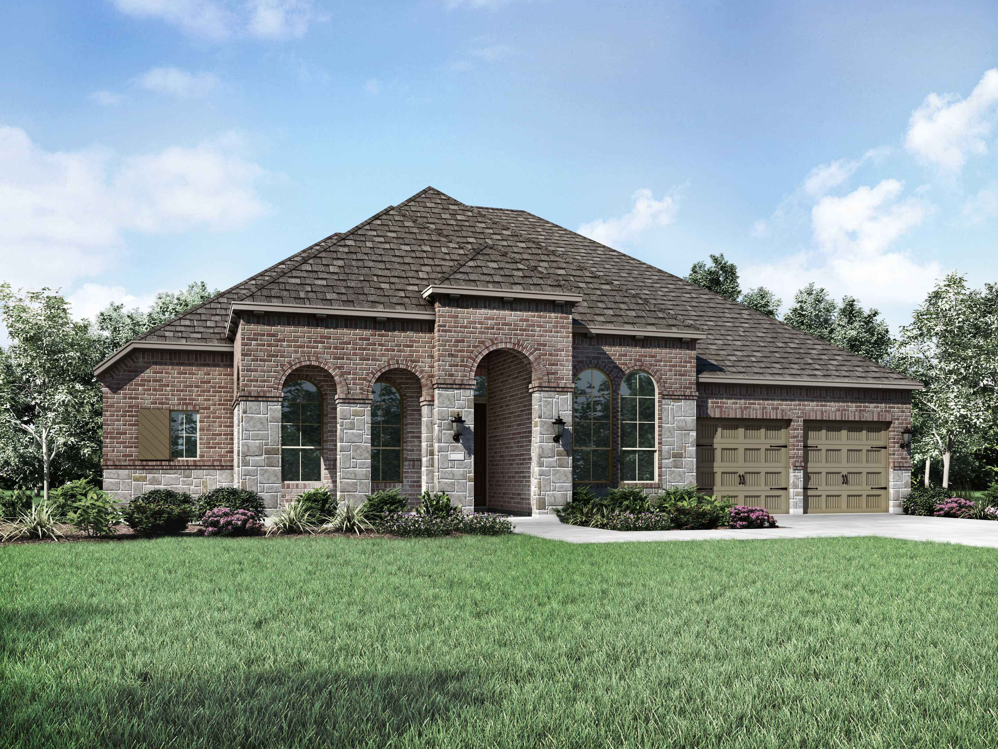 Exterior featured in the Plan 270 By Highland Homes in Dallas, TX