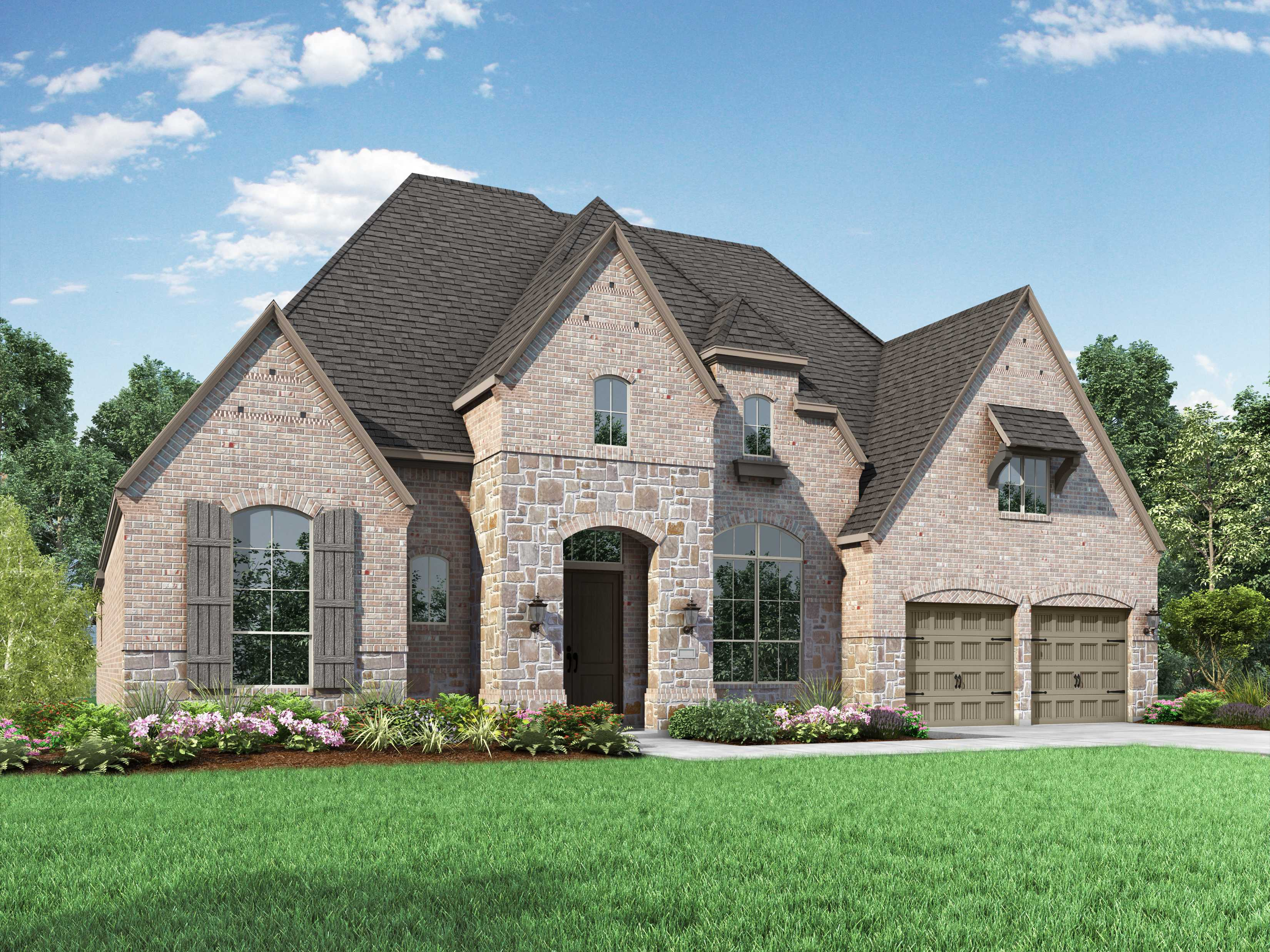 Exterior featured in the Plan 272 By Highland Homes in Dallas, TX
