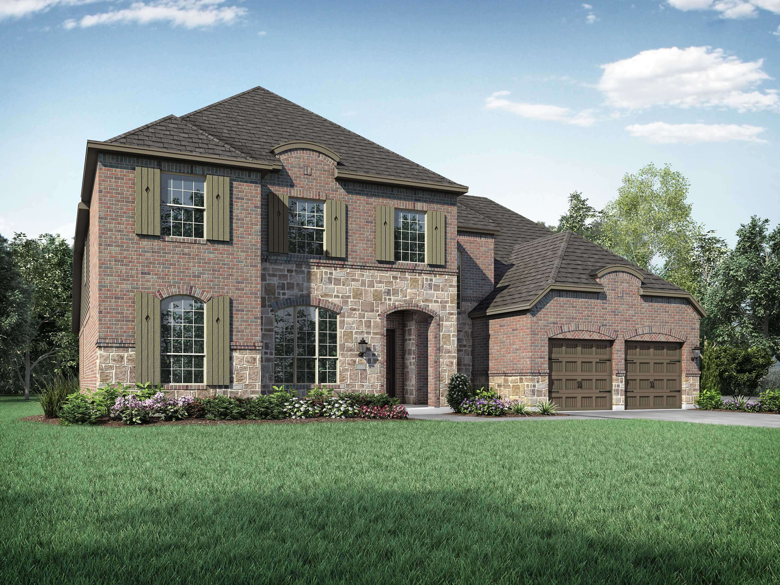 Exterior featured in the Plan 276 By Highland Homes in Dallas, TX