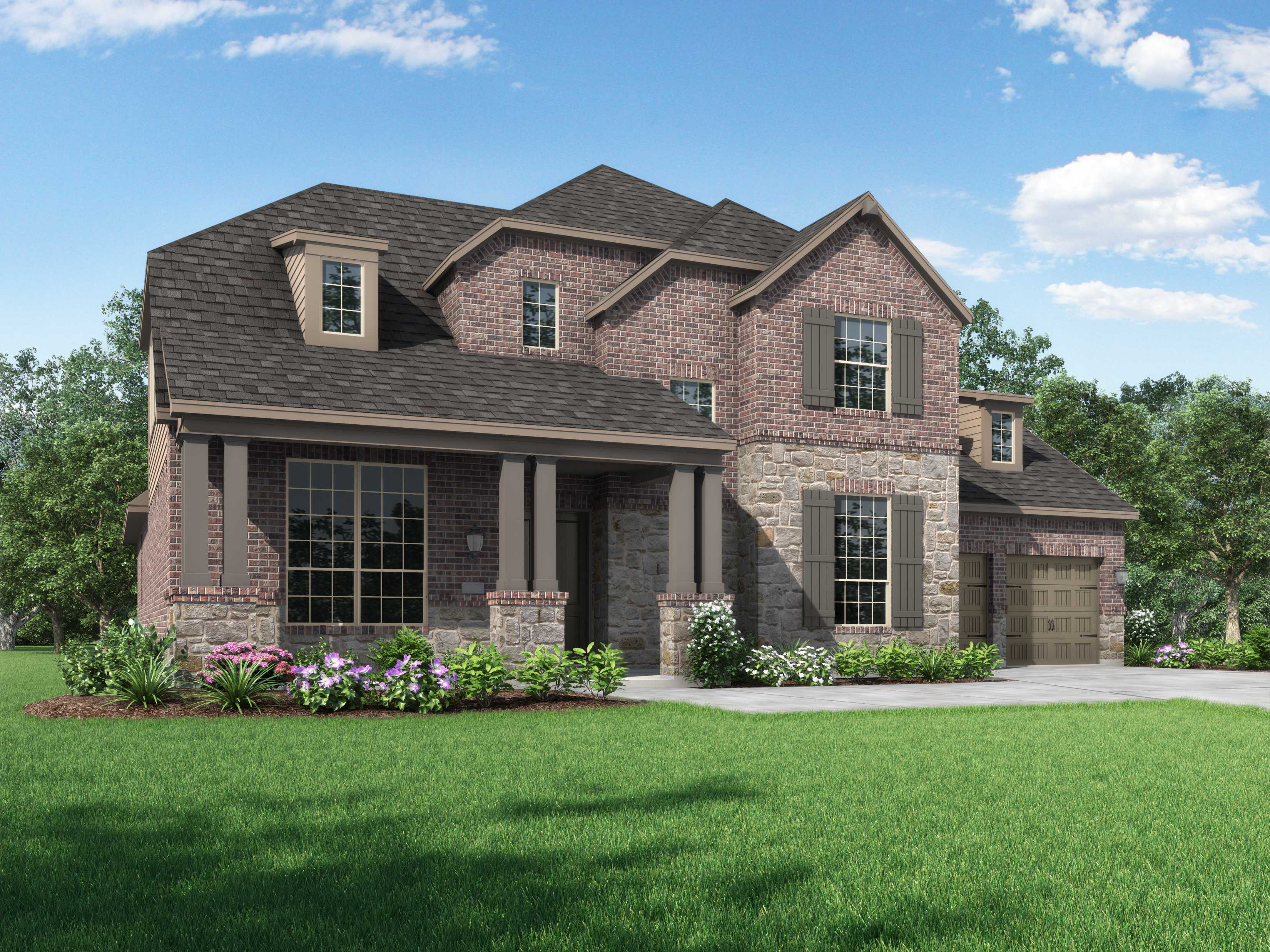 Exterior featured in the Plan 278 By Highland Homes in Dallas, TX
