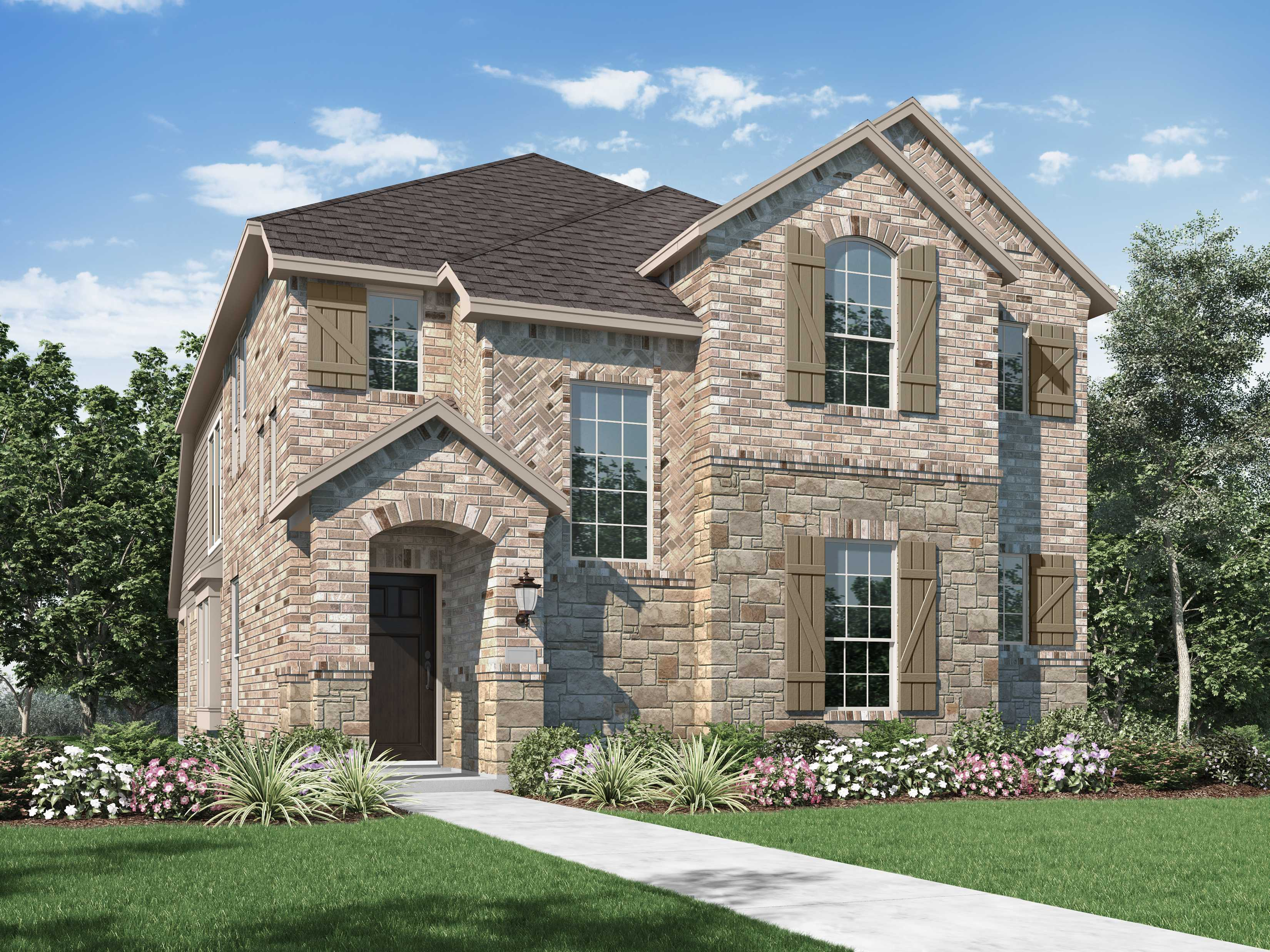 Exterior featured in the Plan Lynnwood By Highland Homes in Fort Worth, TX