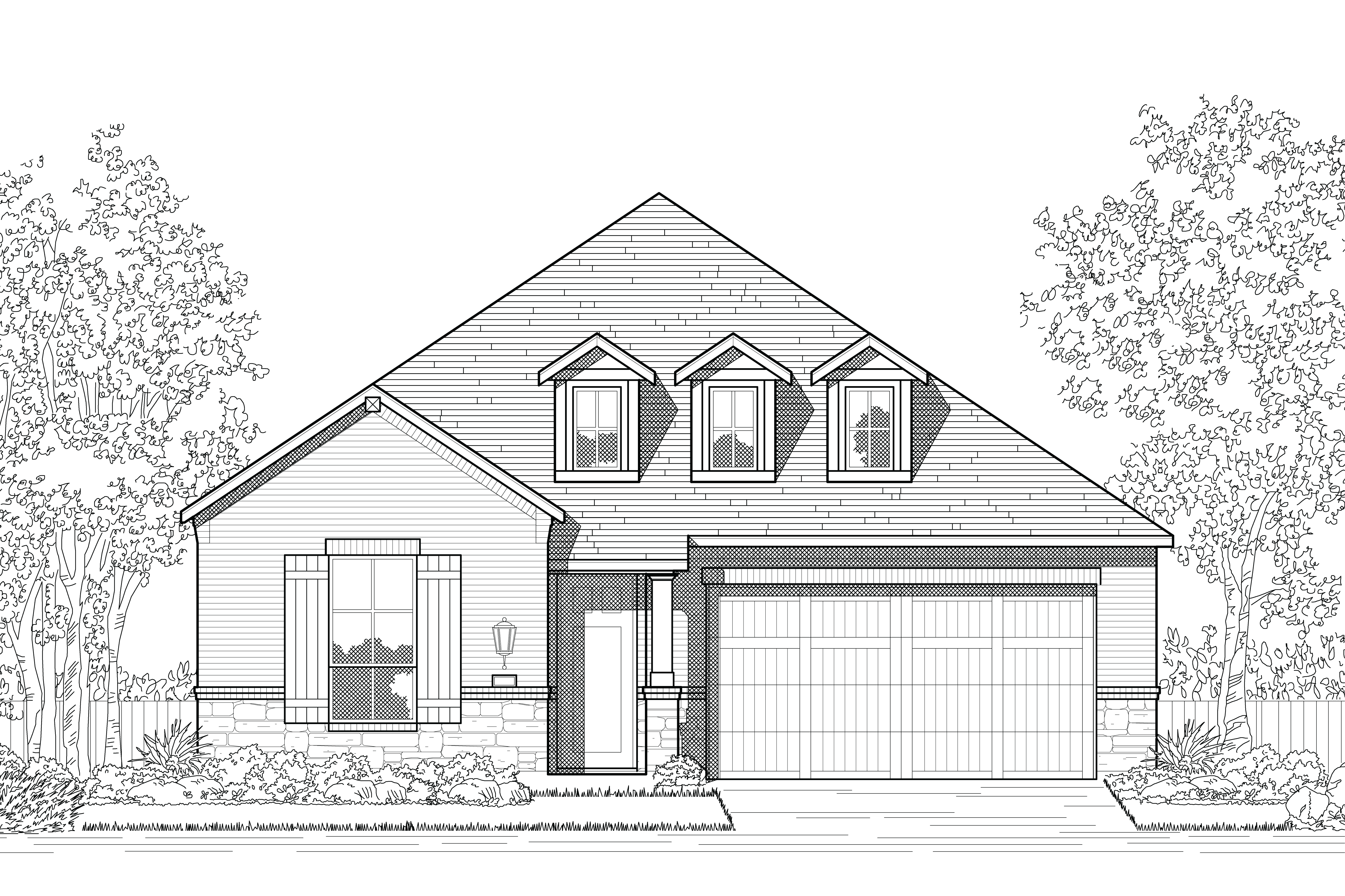 Exterior featured in the Plan Newport By Highland Homes in Houston, TX