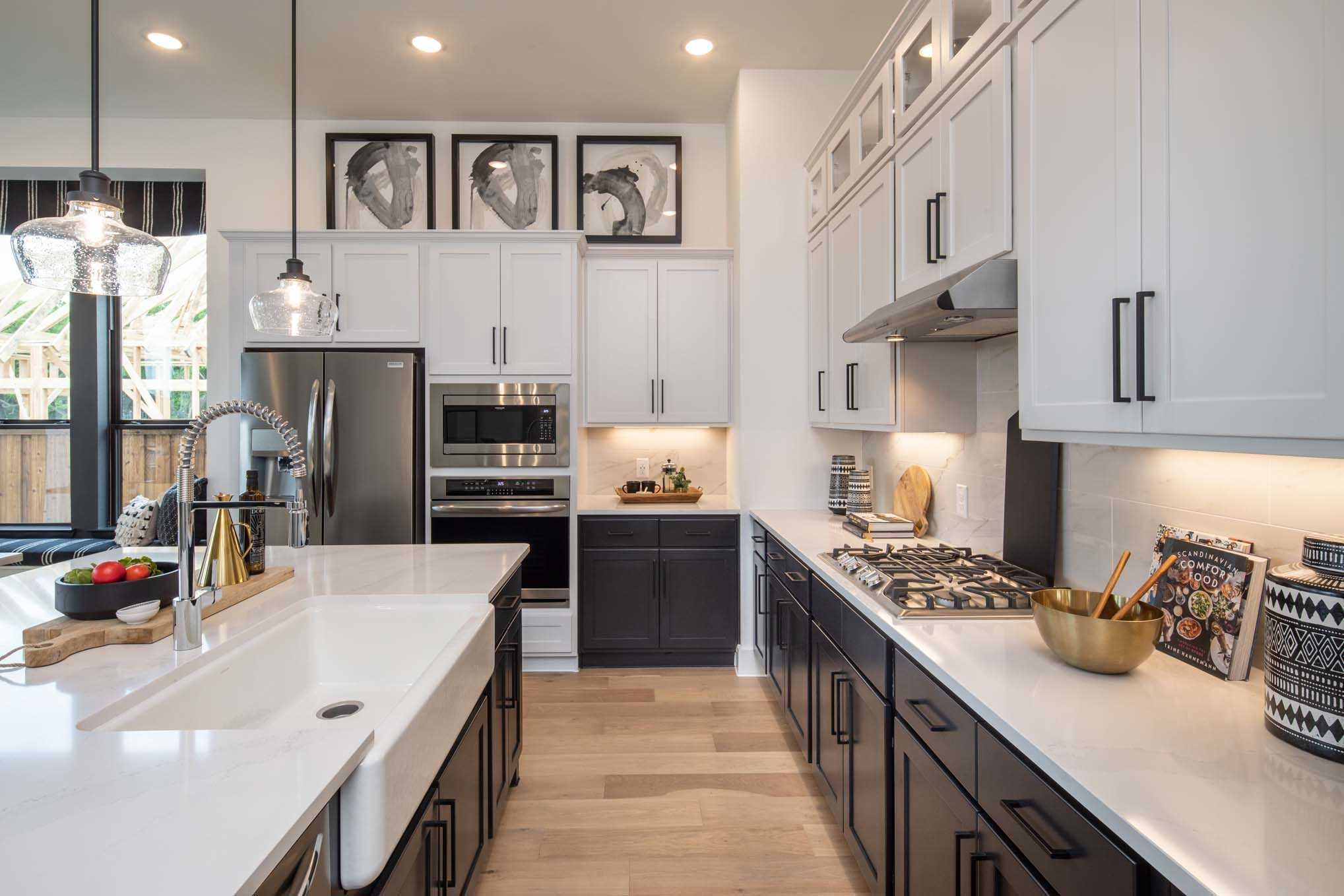 Kitchen featured in the Plan Davenport By Highland Homes in Houston, TX