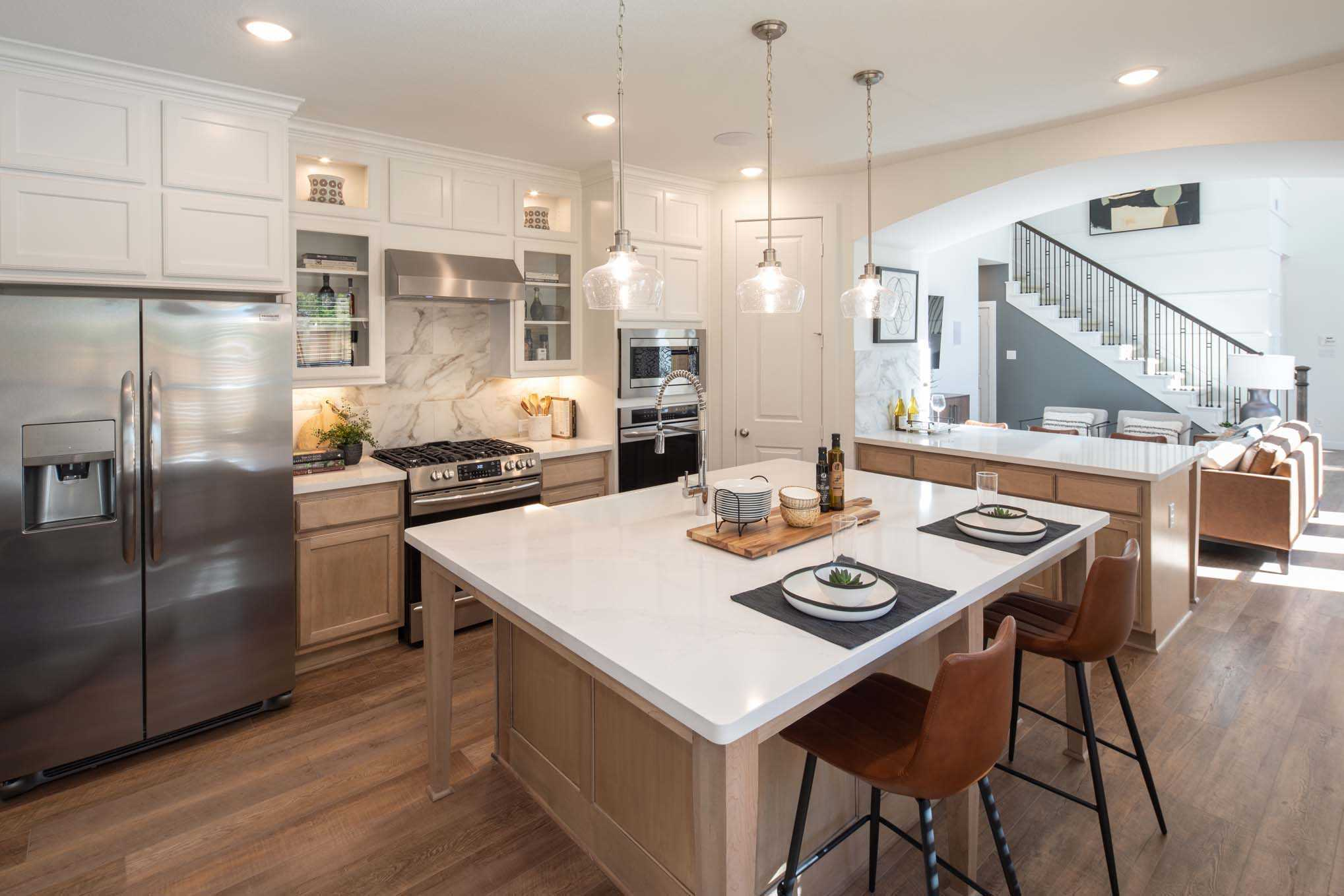 Kitchen featured in the Plan Everleigh By Highland Homes in Austin, TX