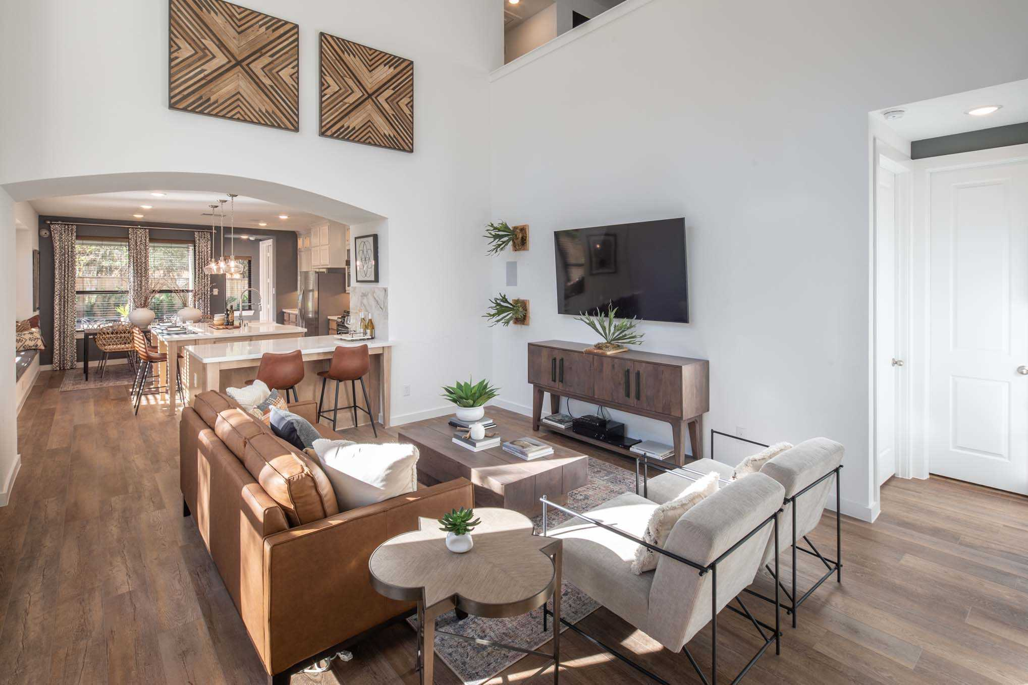 Living Area featured in the Plan Everleigh By Highland Homes in Sherman-Denison, TX