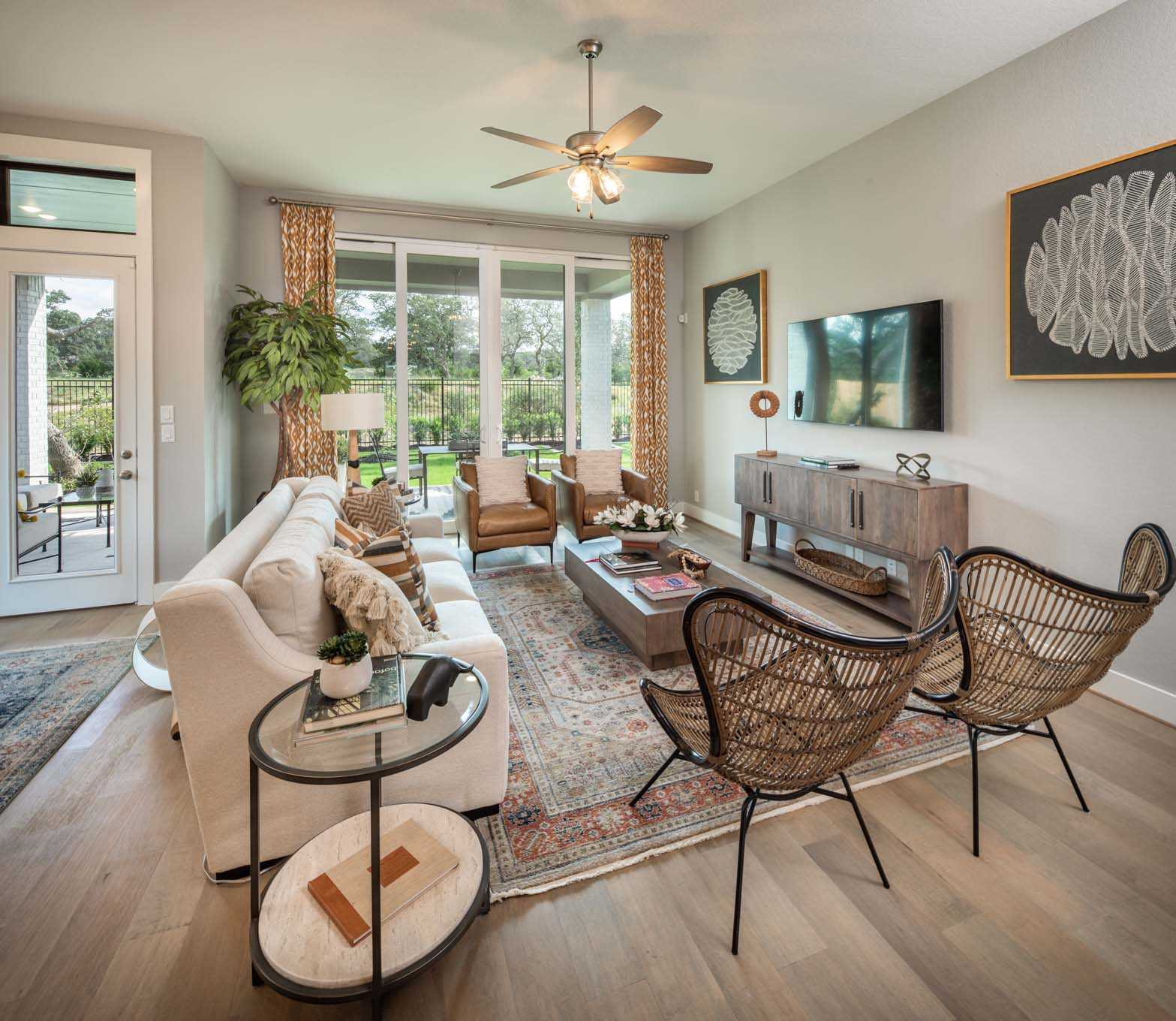 Living Area featured in the Plan Davenport By Highland Homes in Sherman-Denison, TX