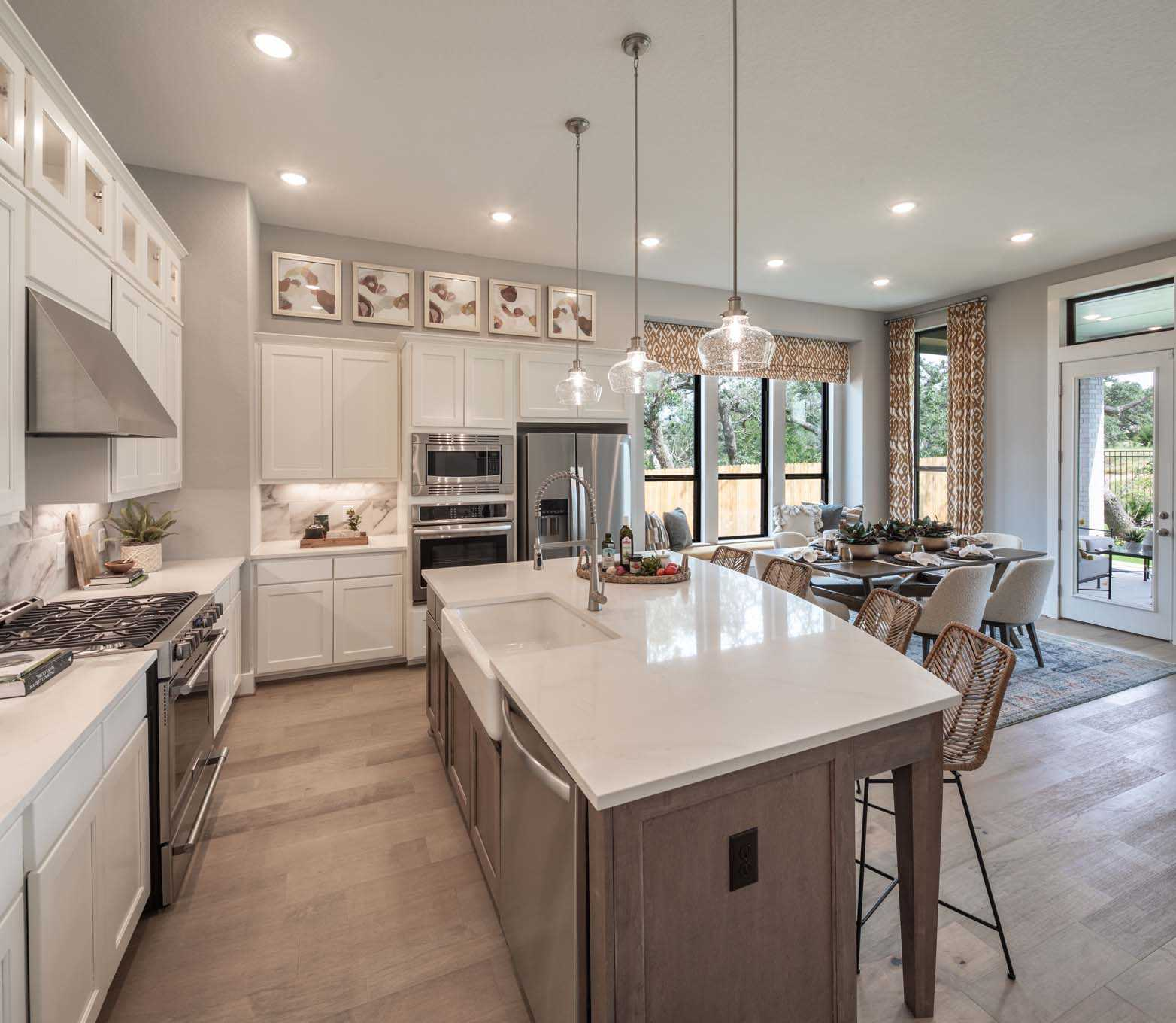 Kitchen featured in the Plan Davenport By Highland Homes in Sherman-Denison, TX