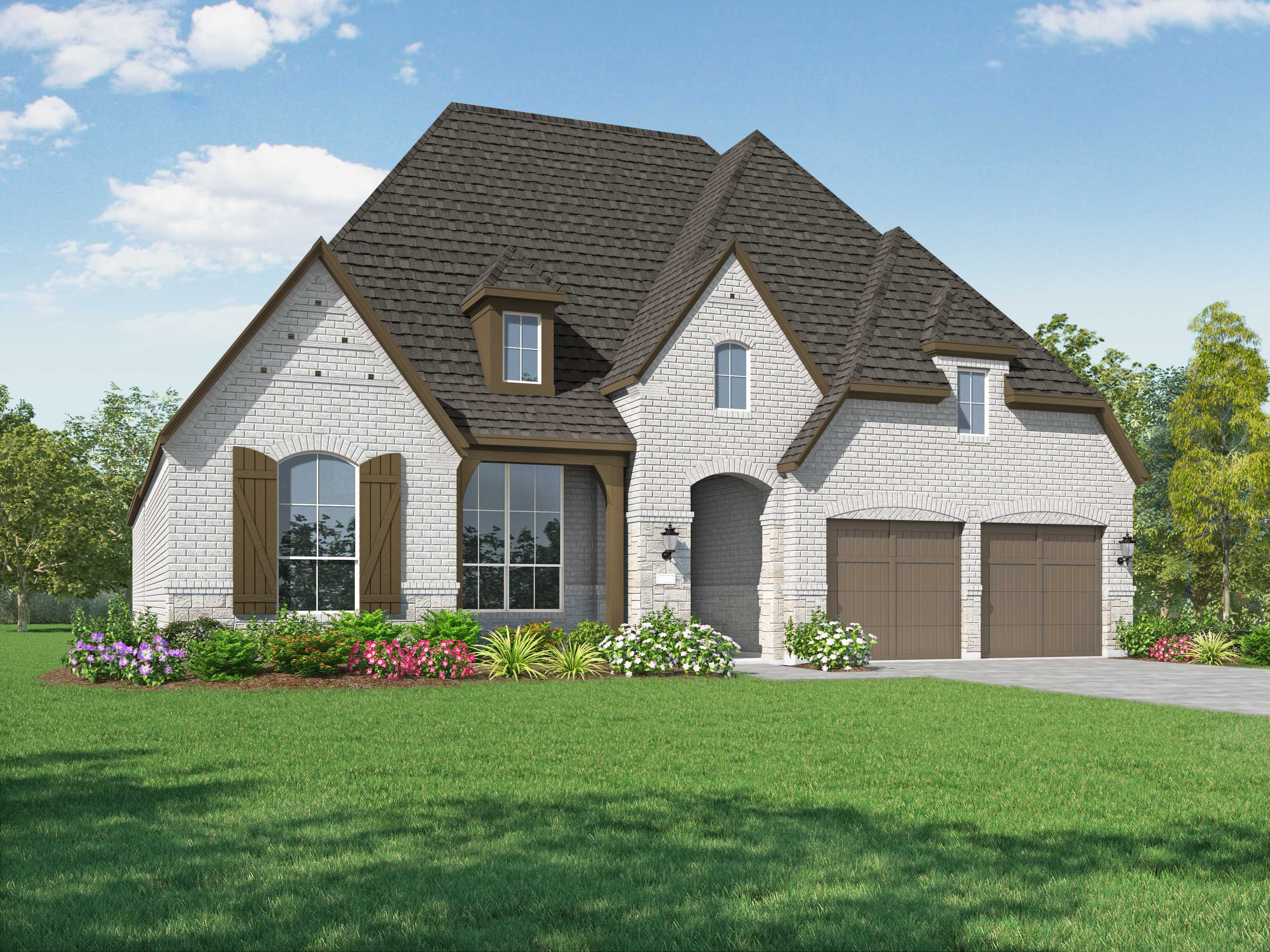 Exterior featured in the Plan 212 By Highland Homes in Houston, TX
