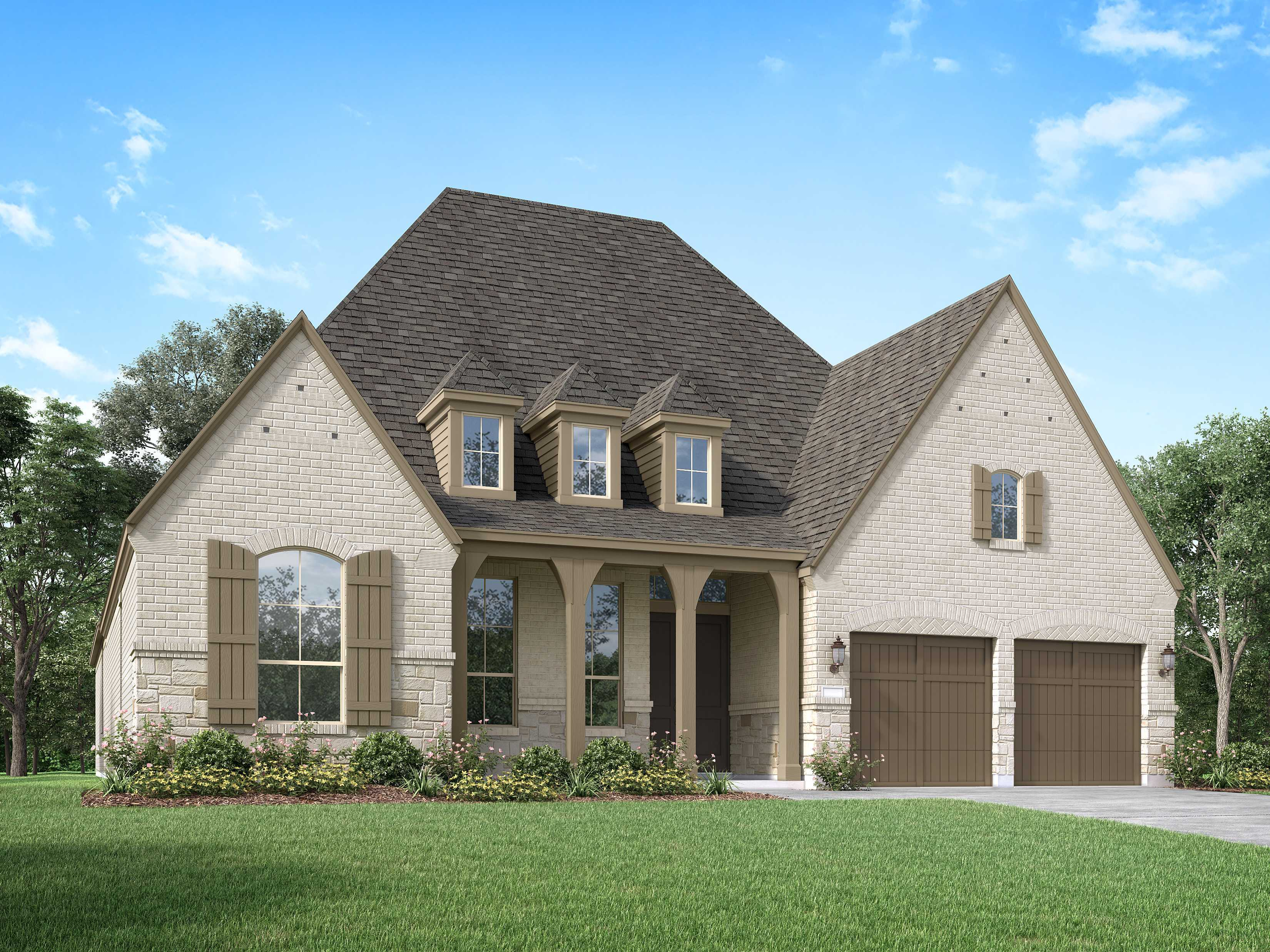Exterior featured in the Plan 214 By Highland Homes in Houston, TX