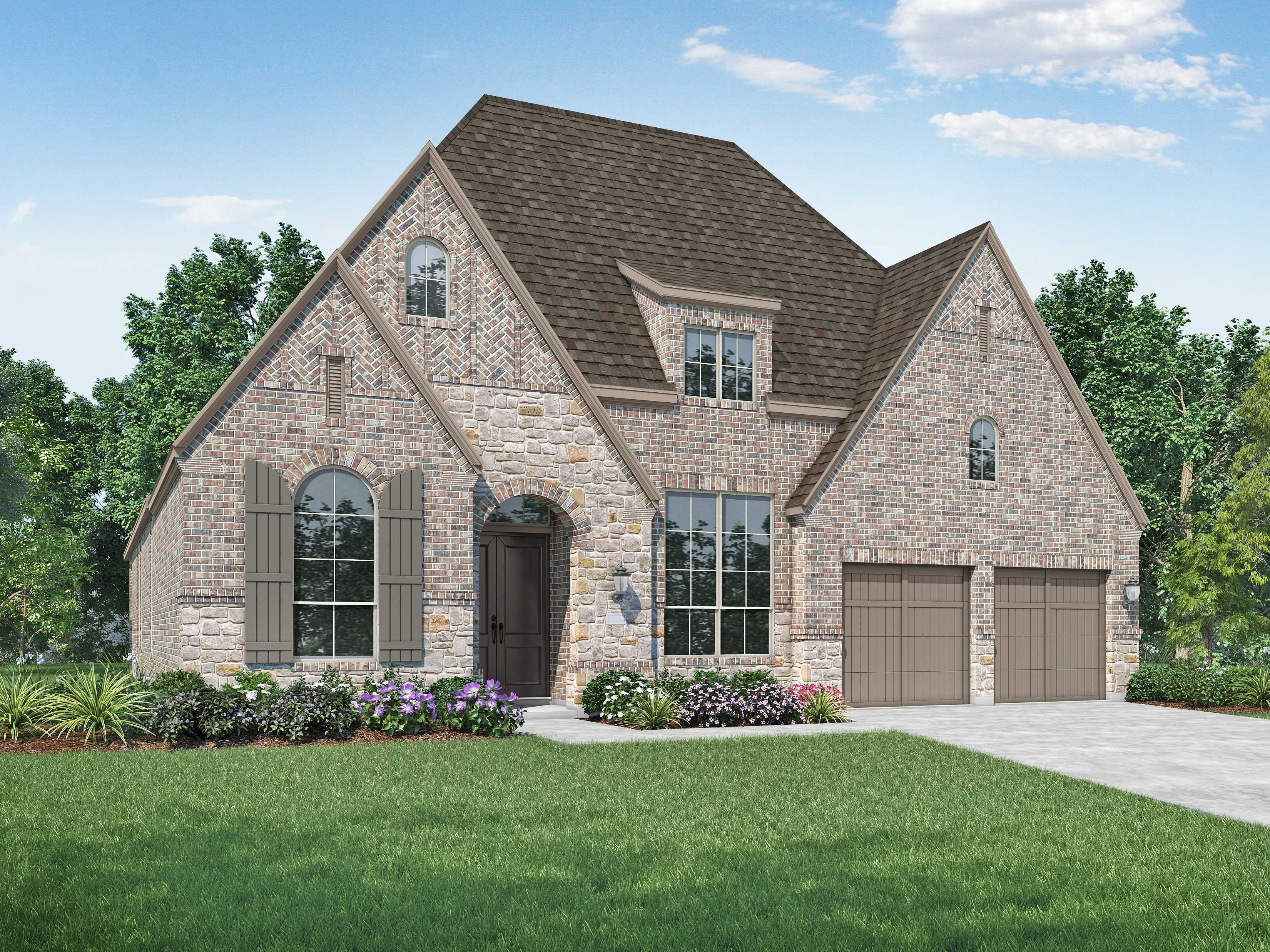 Exterior featured in the Plan 216 By Highland Homes in Houston, TX