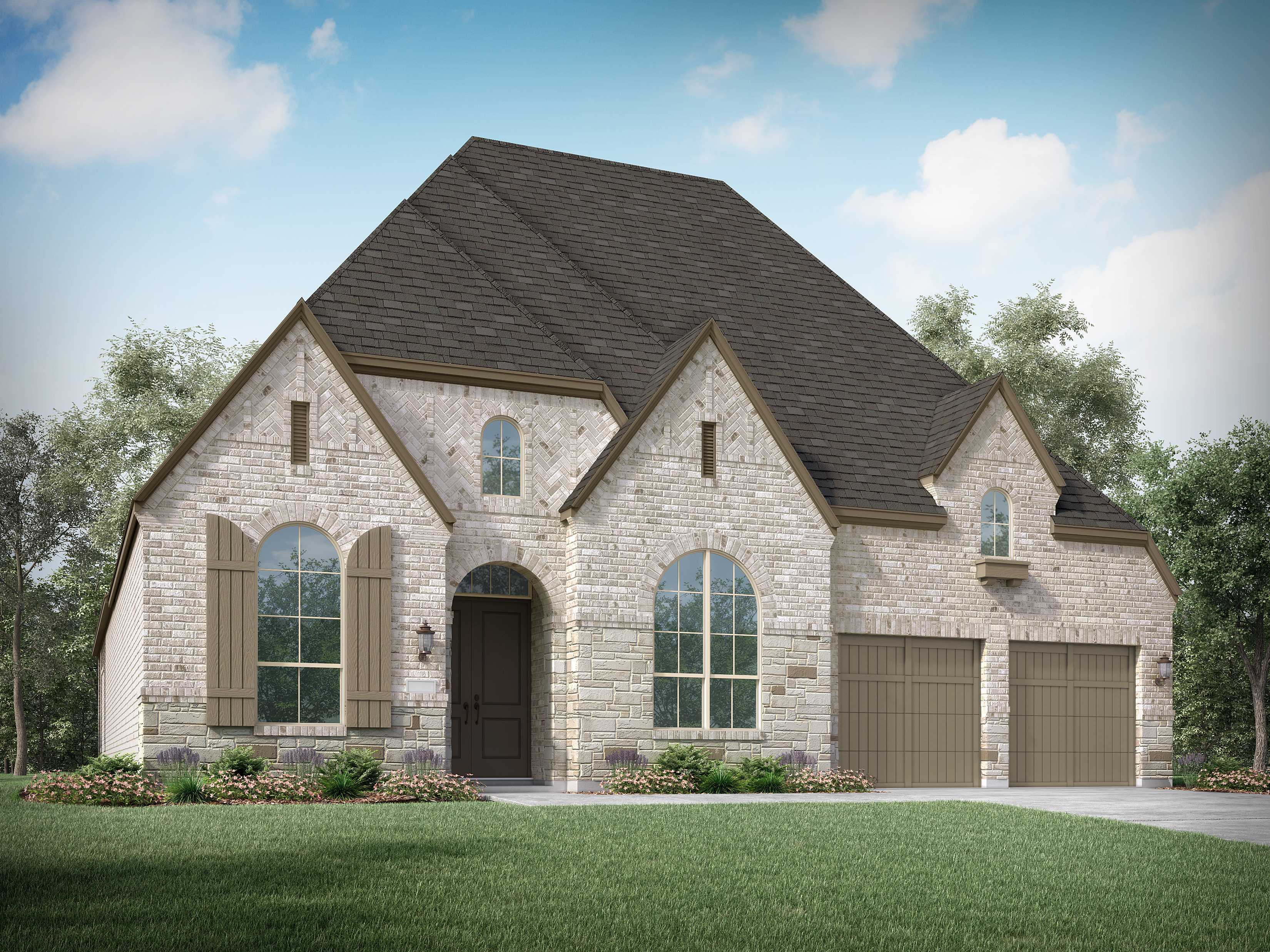 Exterior featured in the Plan 217 By Highland Homes in Houston, TX