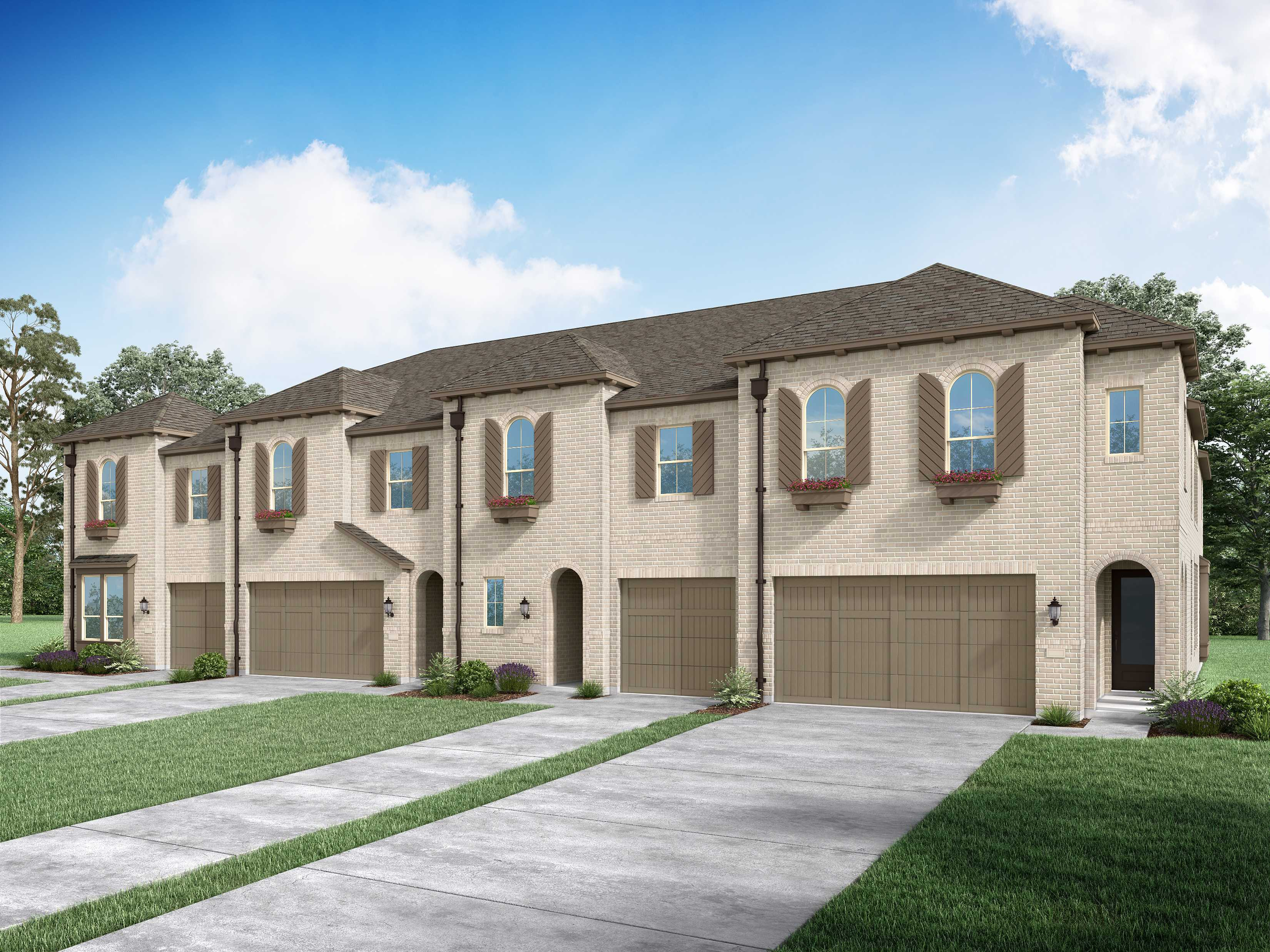 Exterior featured in the Plan Chester By Highland Homes in Dallas, TX