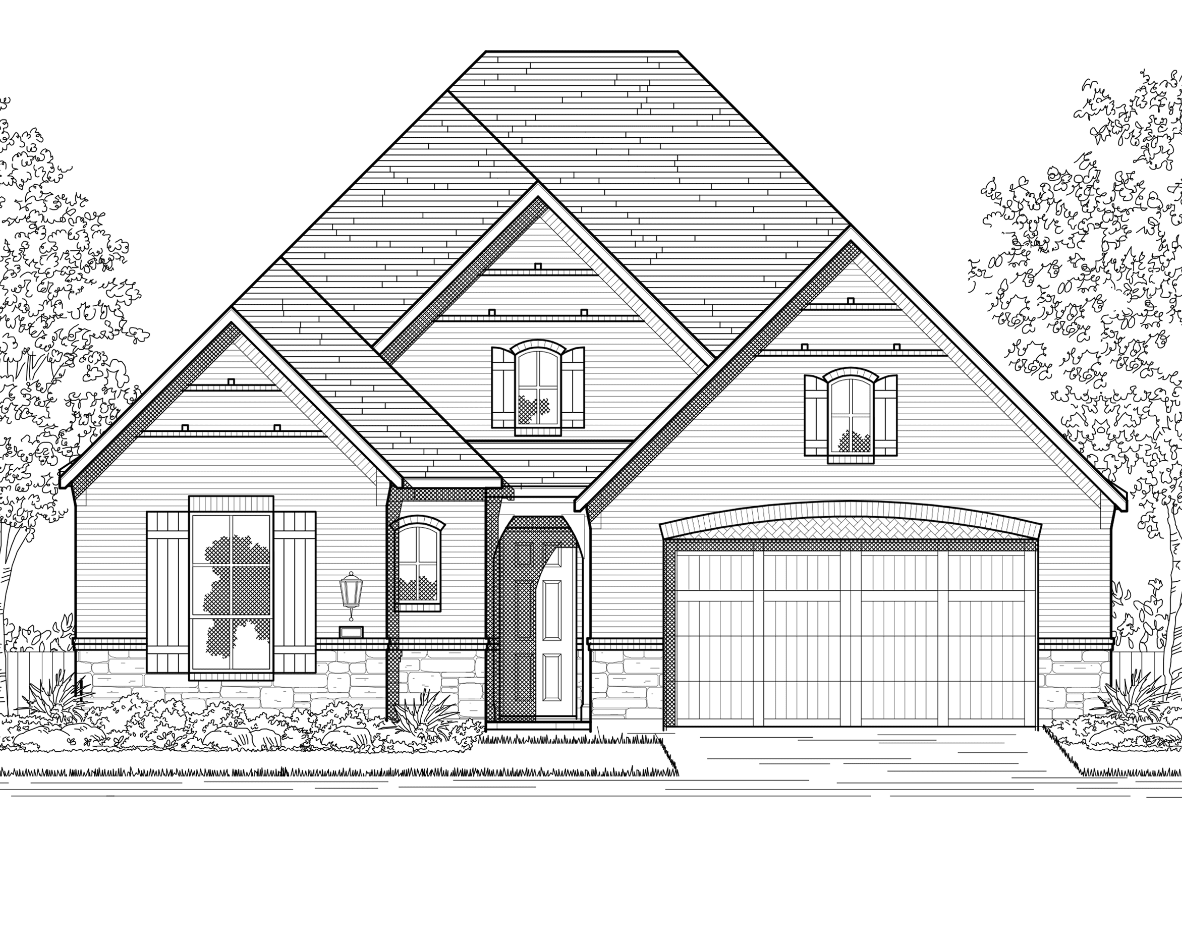 Exterior featured in the Plan Brentwood By Highland Homes in Houston, TX