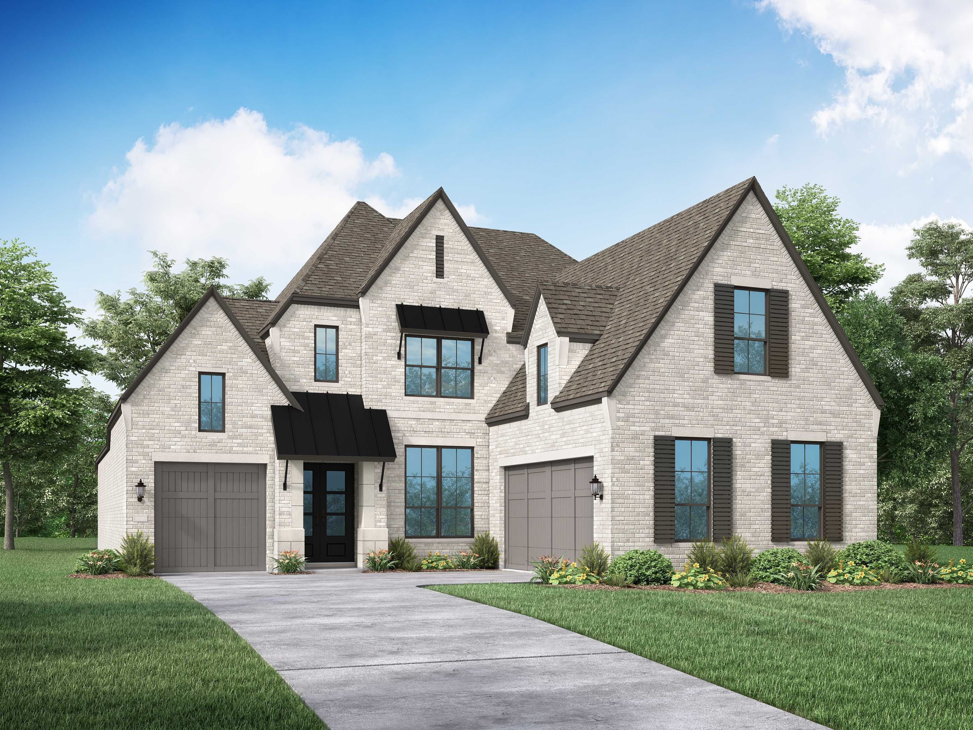 Exterior featured in the Plan 227 By Highland Homes in Houston, TX