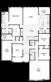 Plan 232 - Pomona: 65ft. lots: Manvel, Texas - Highland Homes