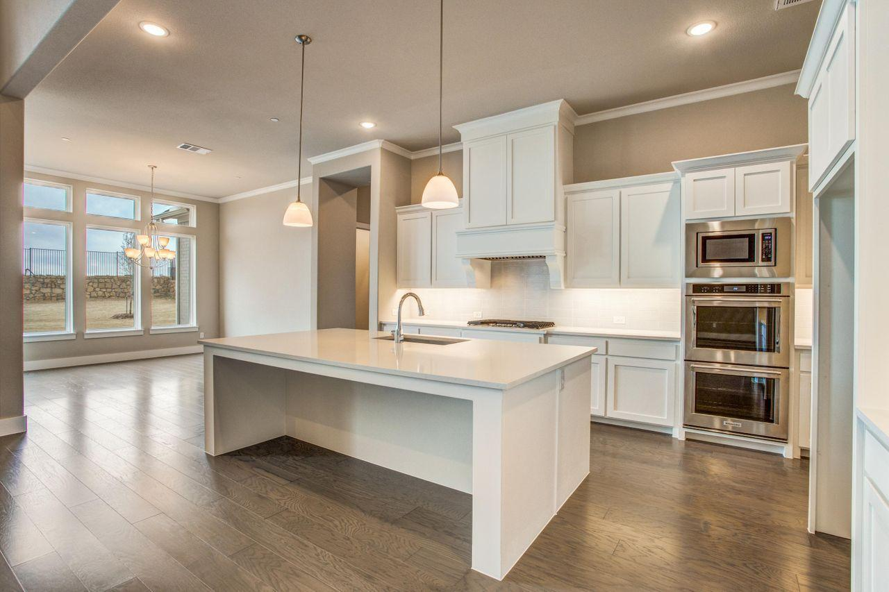 Kitchen featured in The Uvalde By Brockdale in Dallas, TX