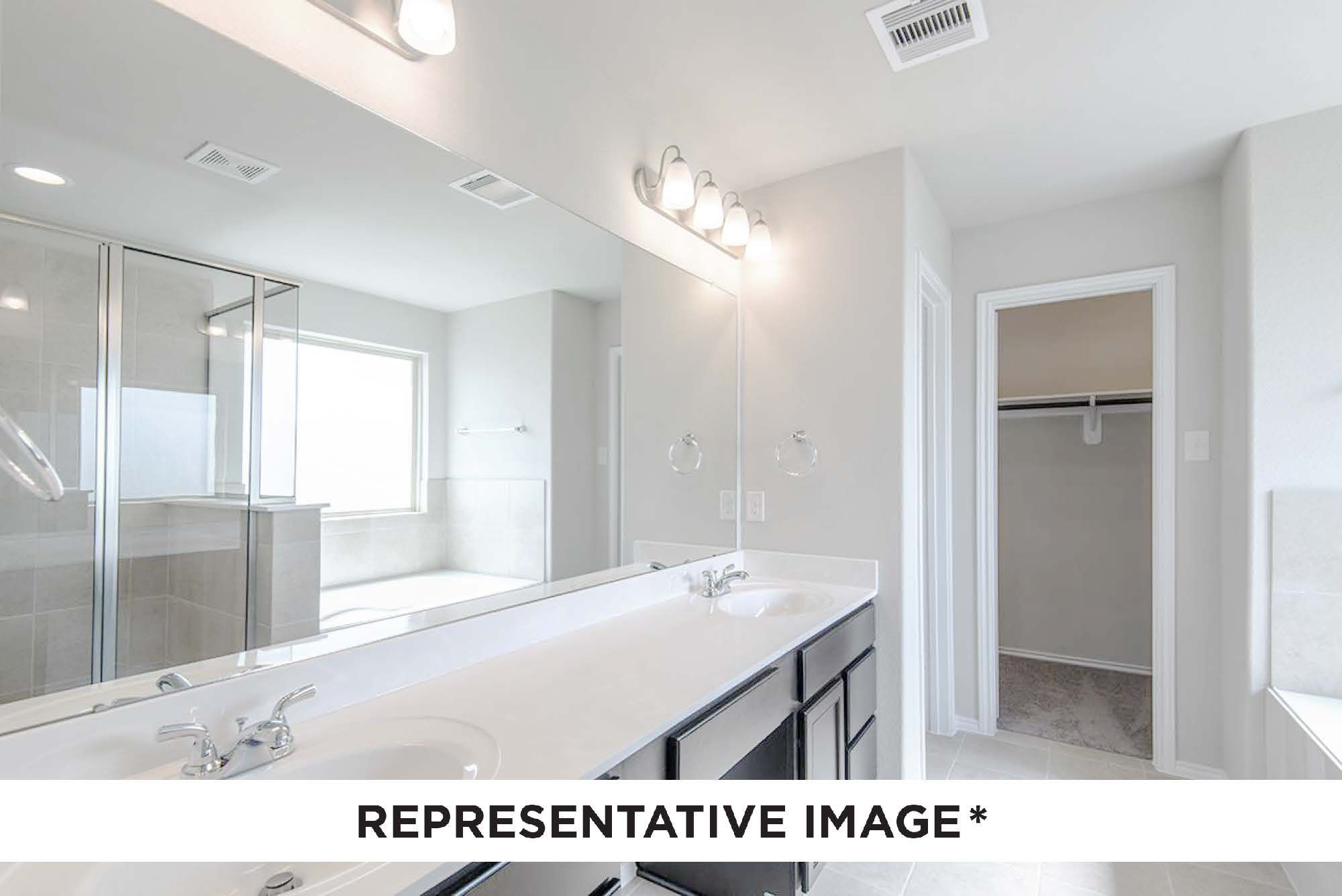 Bathroom featured in the Gladewater By HistoryMaker Homes    in Houston, TX