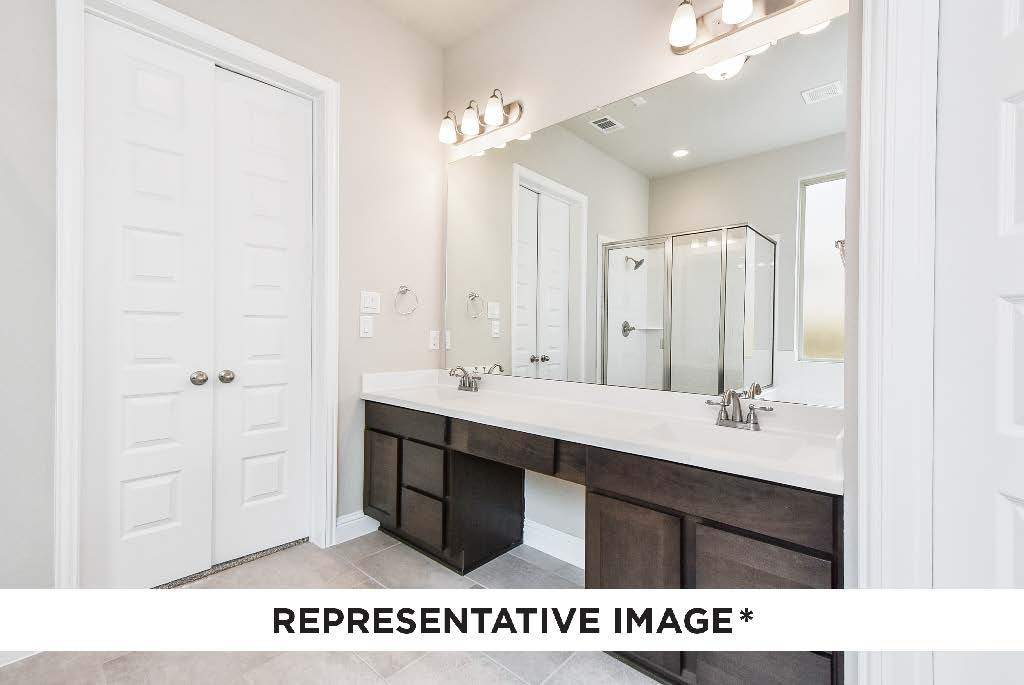 Bathroom featured in the Walnut By HistoryMaker Homes    in Dallas, TX