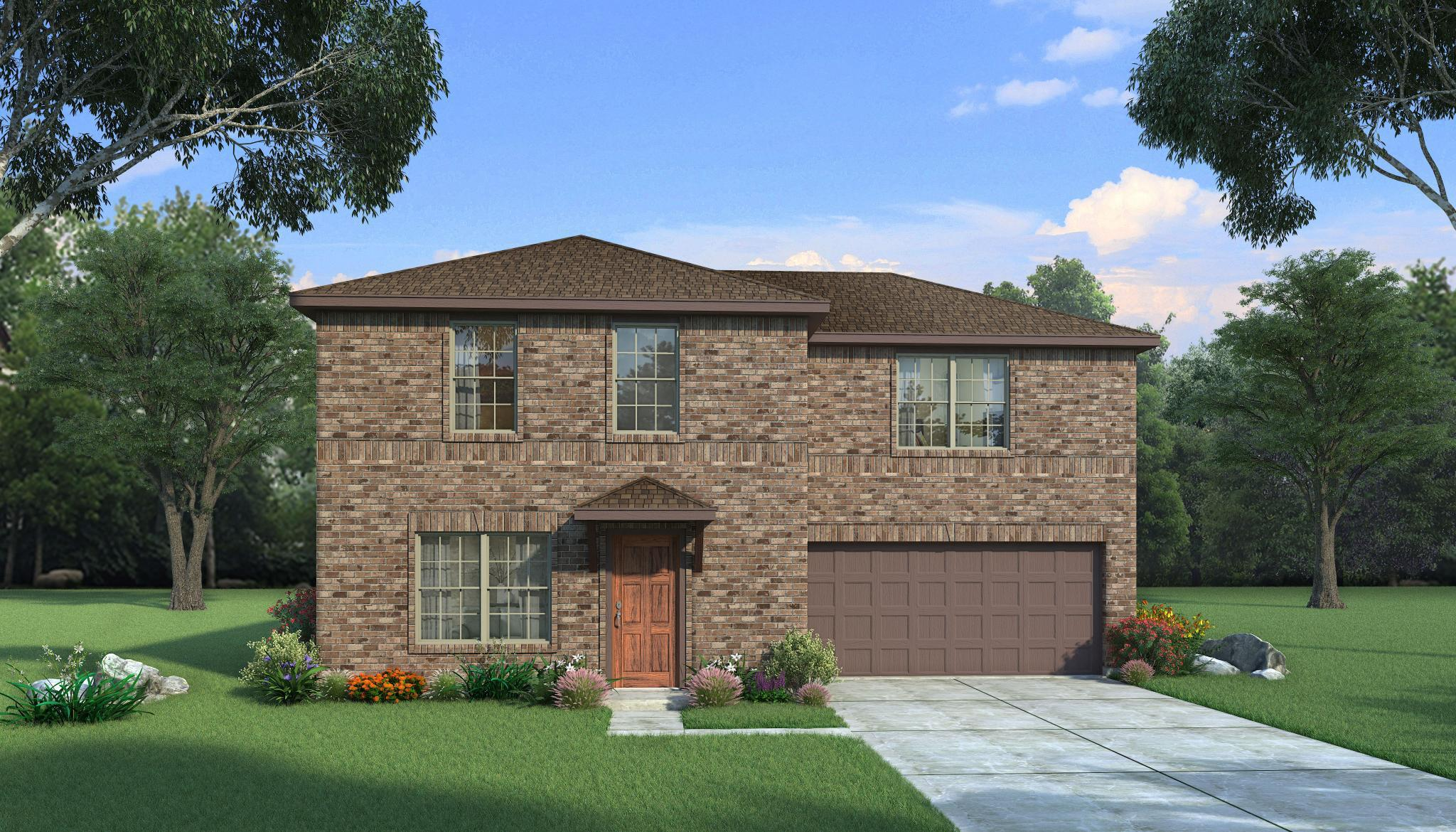 Exterior featured in the Maple By HistoryMaker Homes    in Sherman-Denison, TX