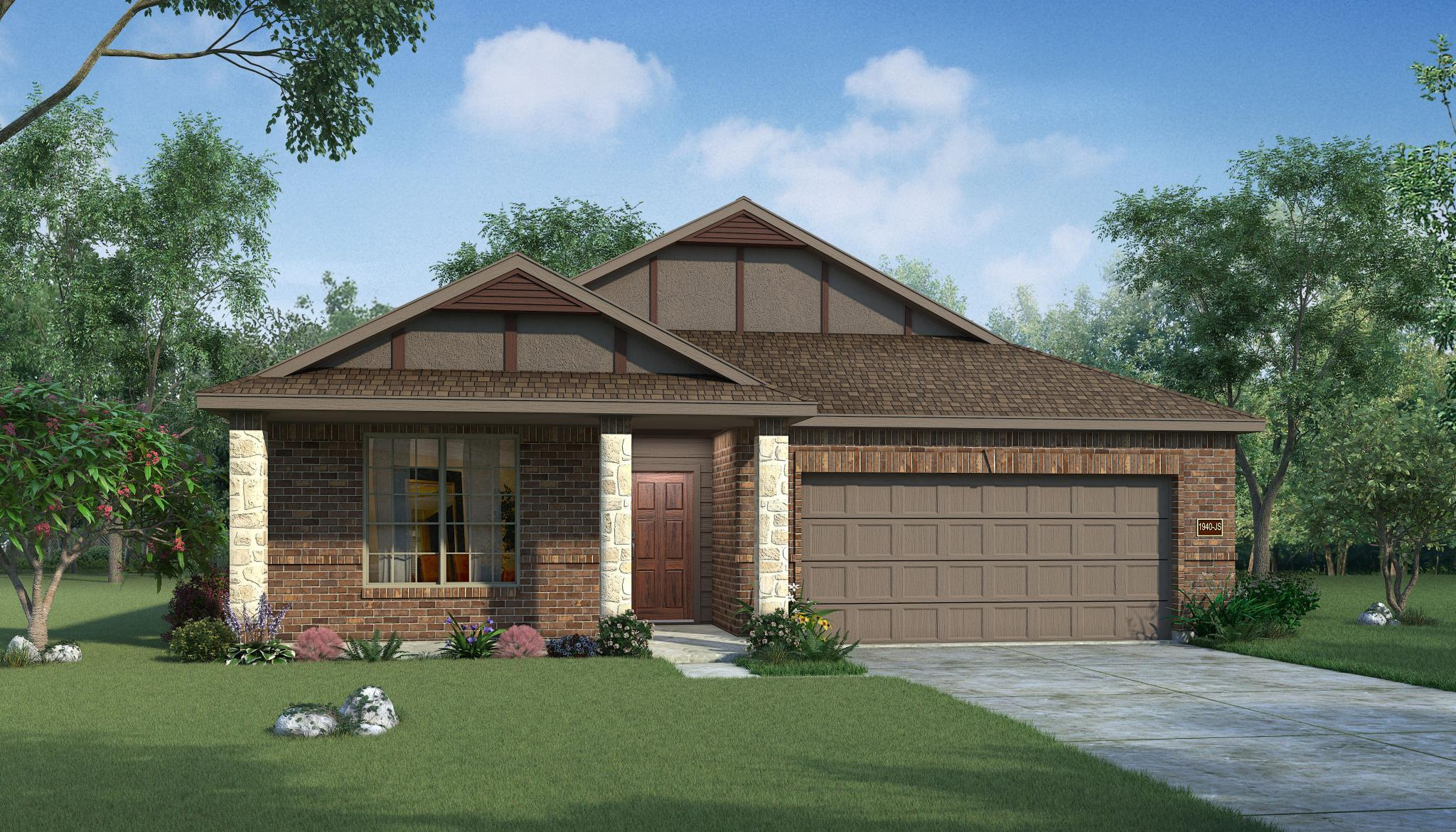 Exterior featured in the Cottonwood By HistoryMaker Homes    in Sherman-Denison, TX