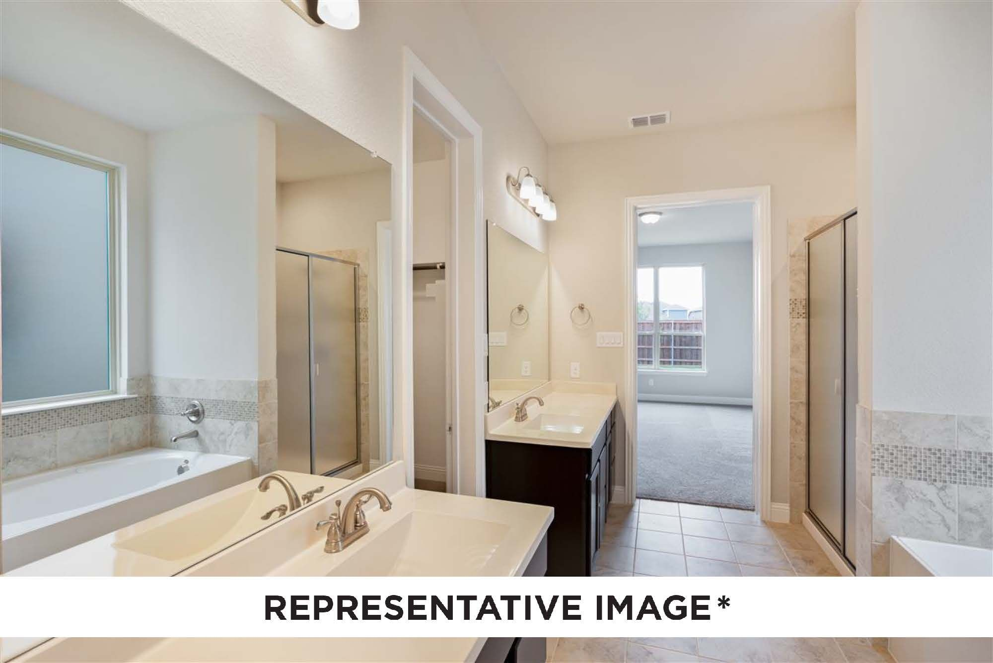Bathroom featured in the Buckeye By HistoryMaker Homes    in Fort Worth, TX