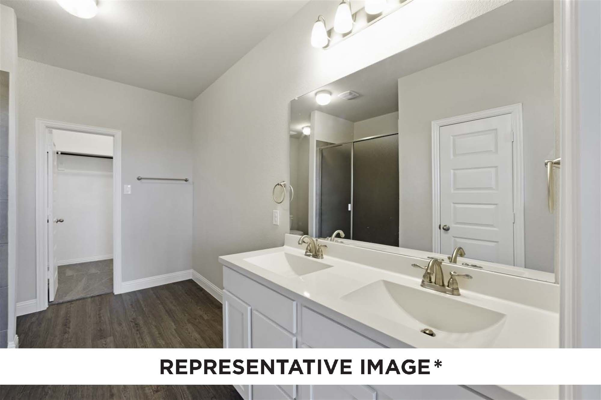 Bathroom featured in the Alder By HistoryMaker Homes    in Houston, TX