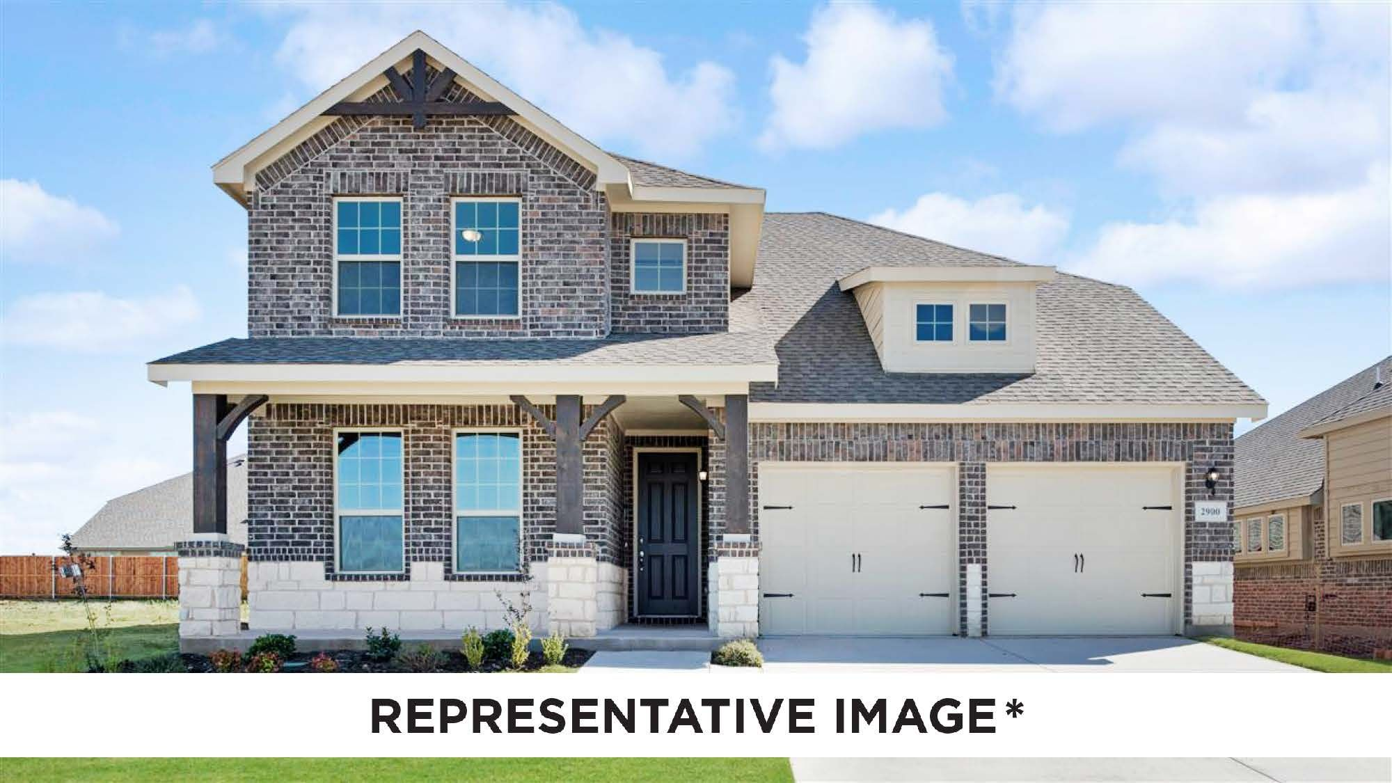 Exterior featured in the Mahogany By HistoryMaker Homes    in Fort Worth, TX