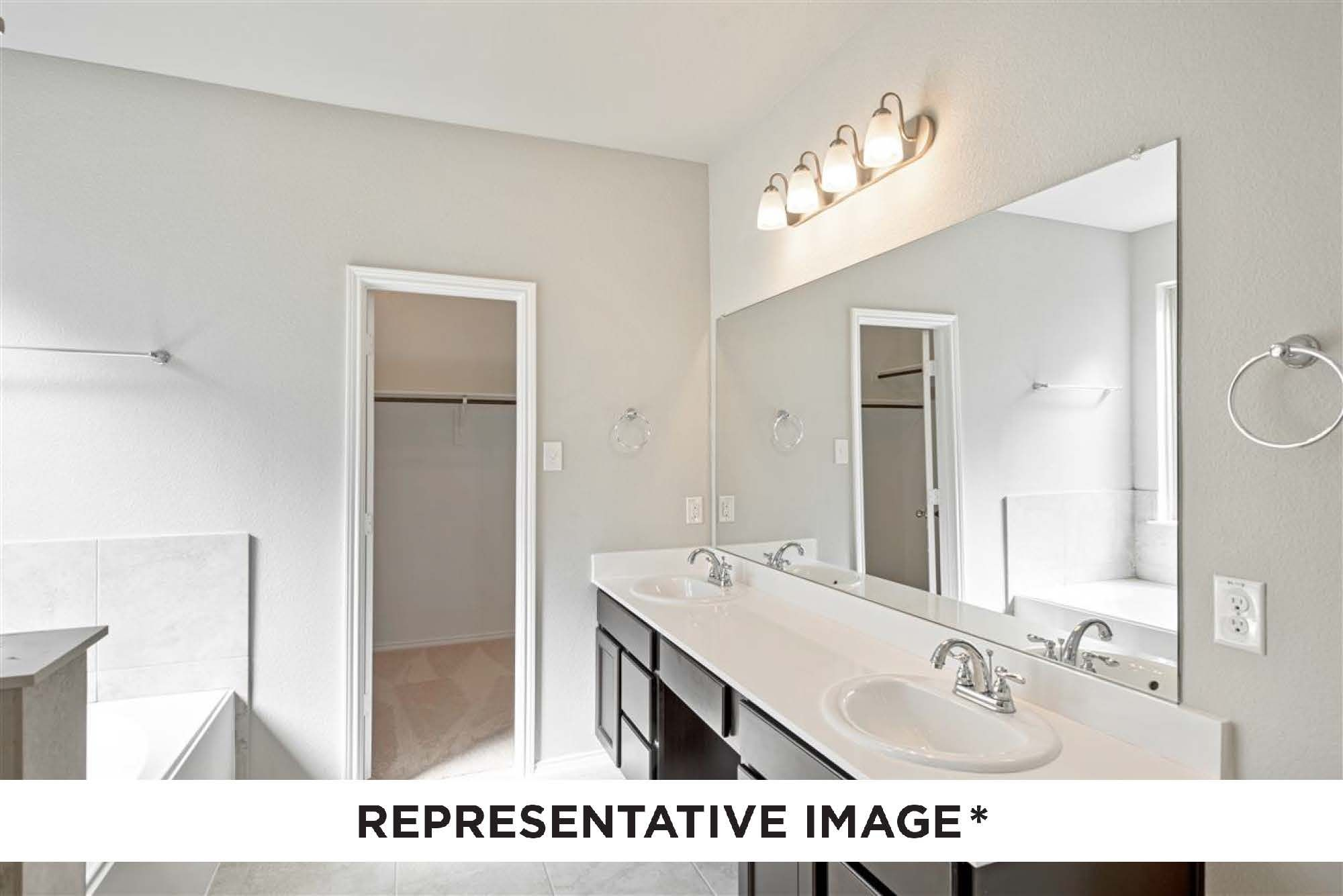 Bathroom featured in the Mahogany By HistoryMaker Homes    in Fort Worth, TX