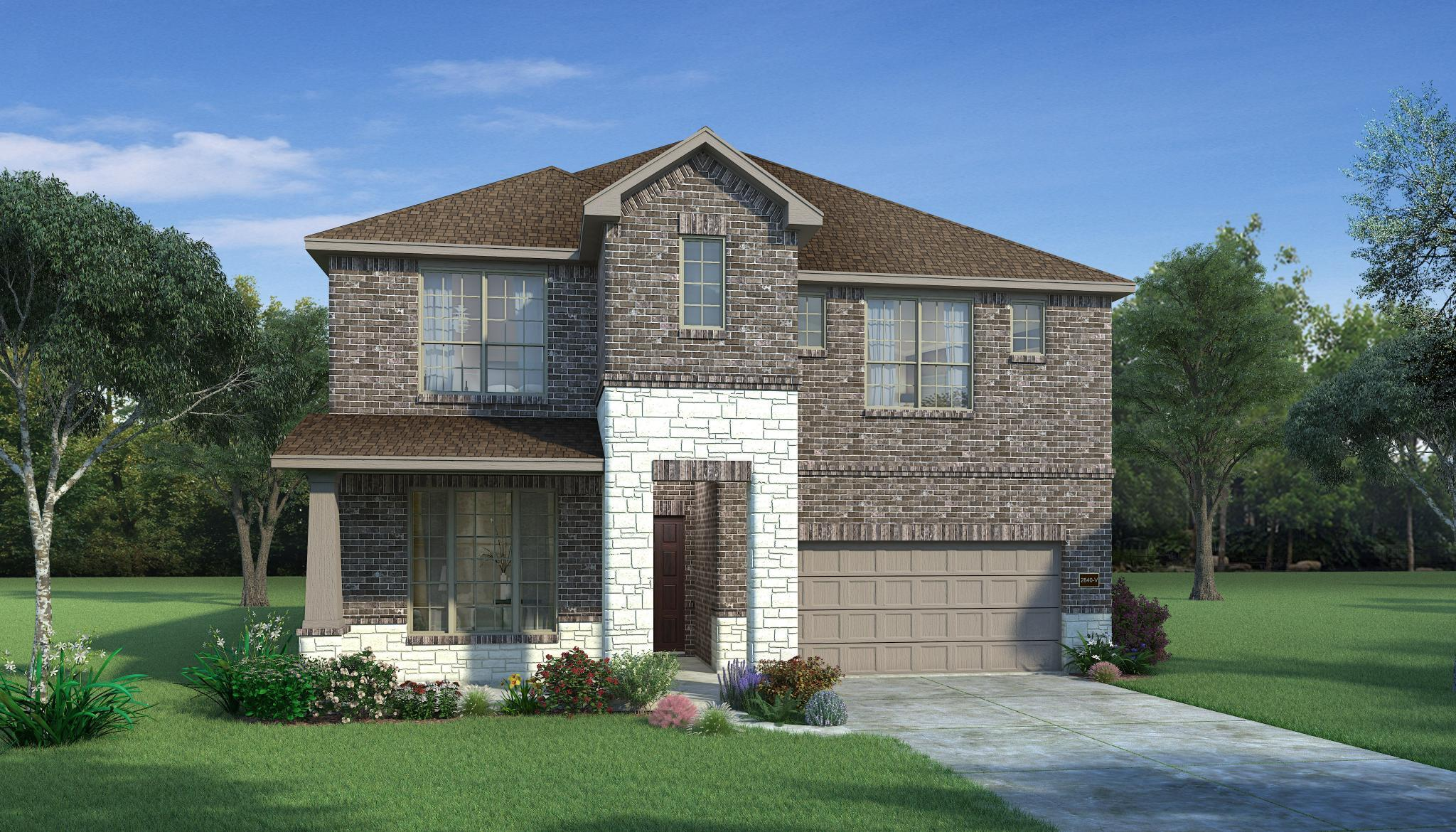 Exterior featured in the Hawthorn By HistoryMaker Homes    in Houston, TX