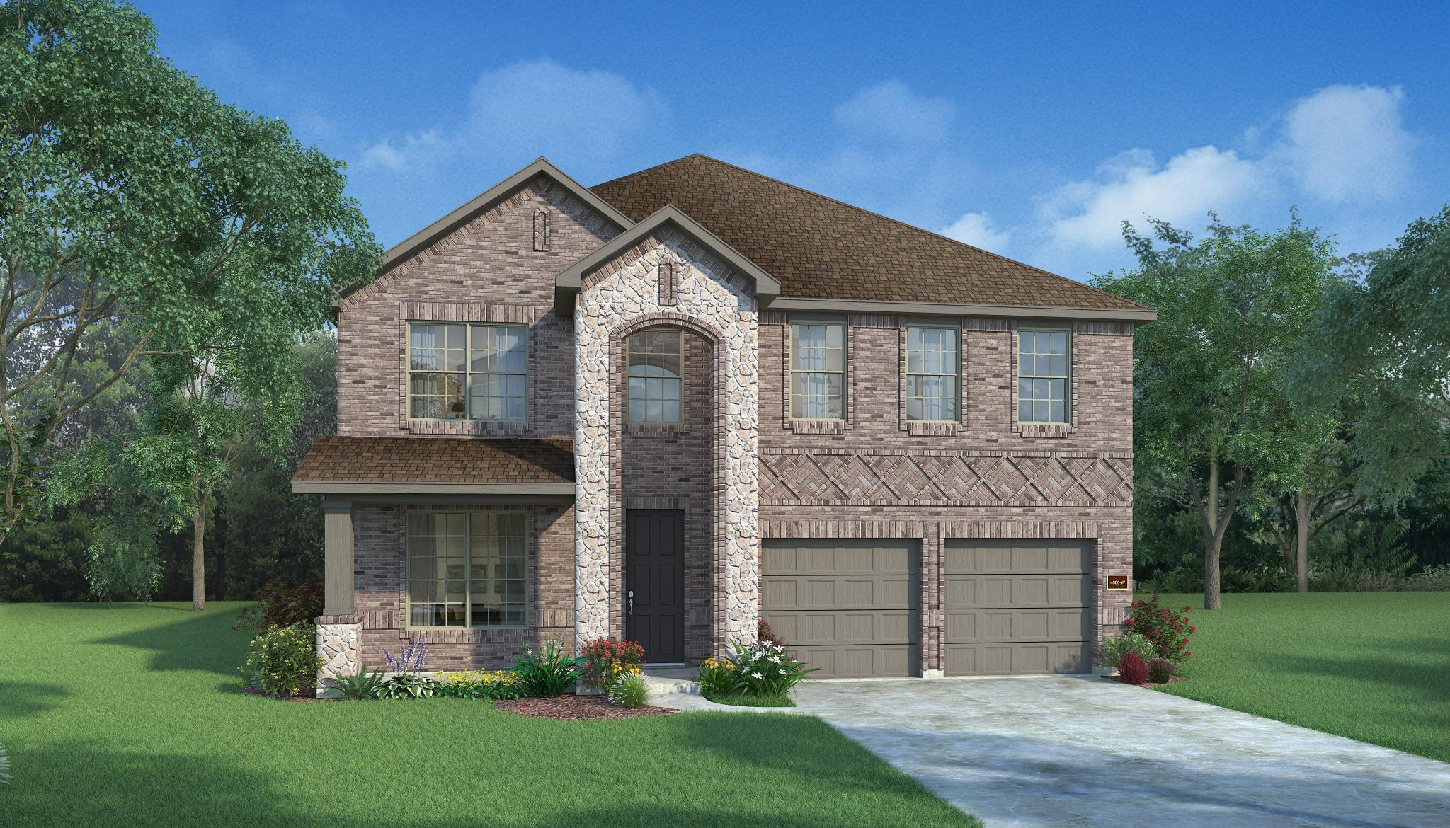 Exterior featured in the Ebony By HistoryMaker Homes    in Dallas, TX
