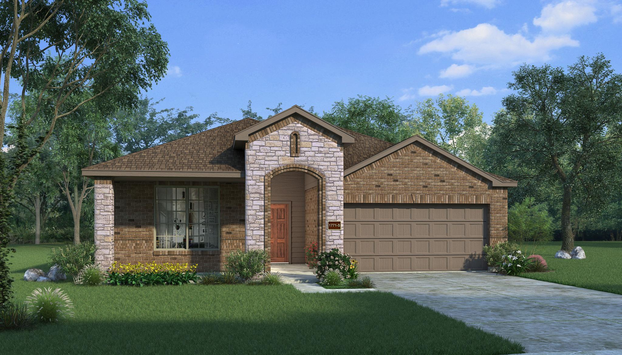 Exterior featured in the Basswood By HistoryMaker Homes    in Fort Worth, TX
