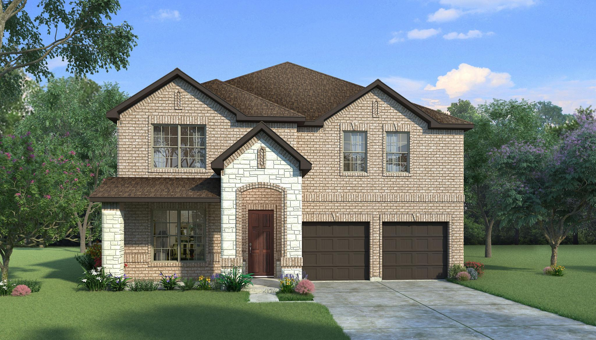 Exterior featured in the Elm By HistoryMaker Homes    in Fort Worth, TX