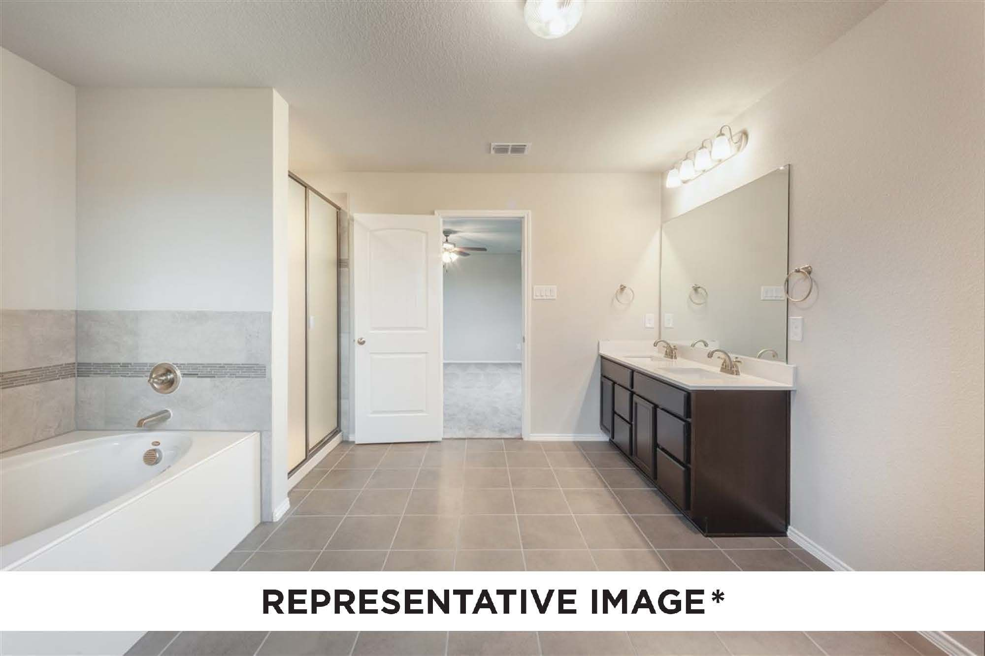 Bathroom featured in the Elm By HistoryMaker Homes    in Fort Worth, TX