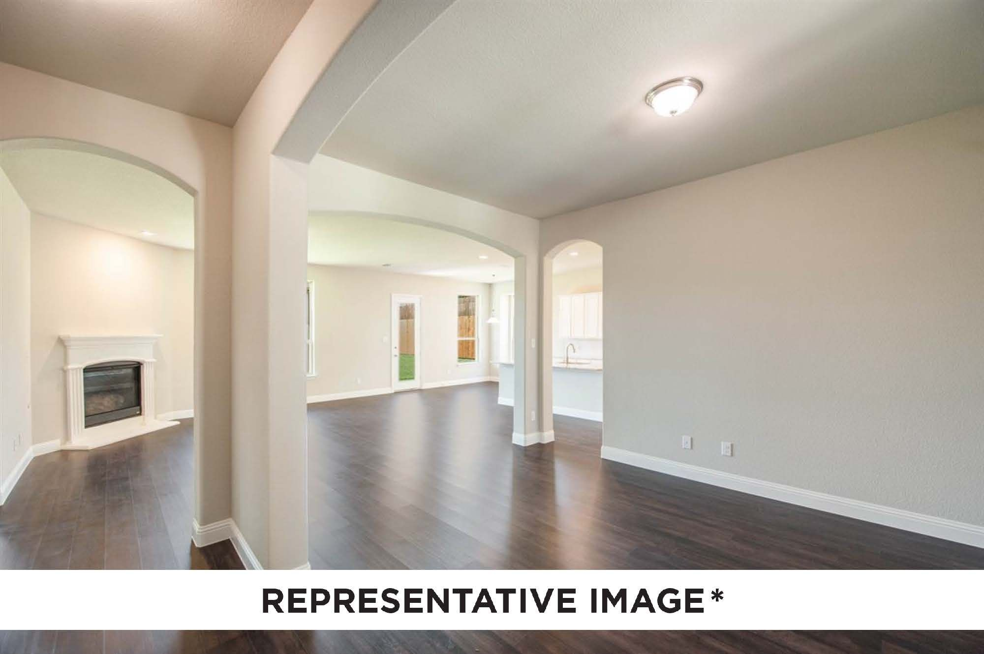 Living Area featured in the Washington By HistoryMaker Homes    in Houston, TX