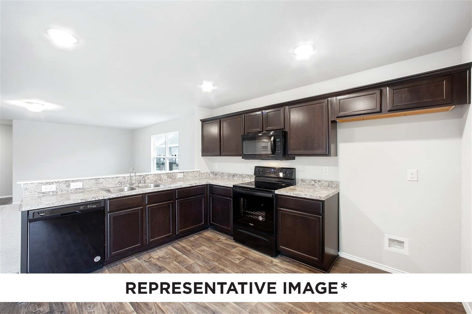 Kitchen featured in the Aspen By HistoryMaker Homes    in Sherman-Denison, TX