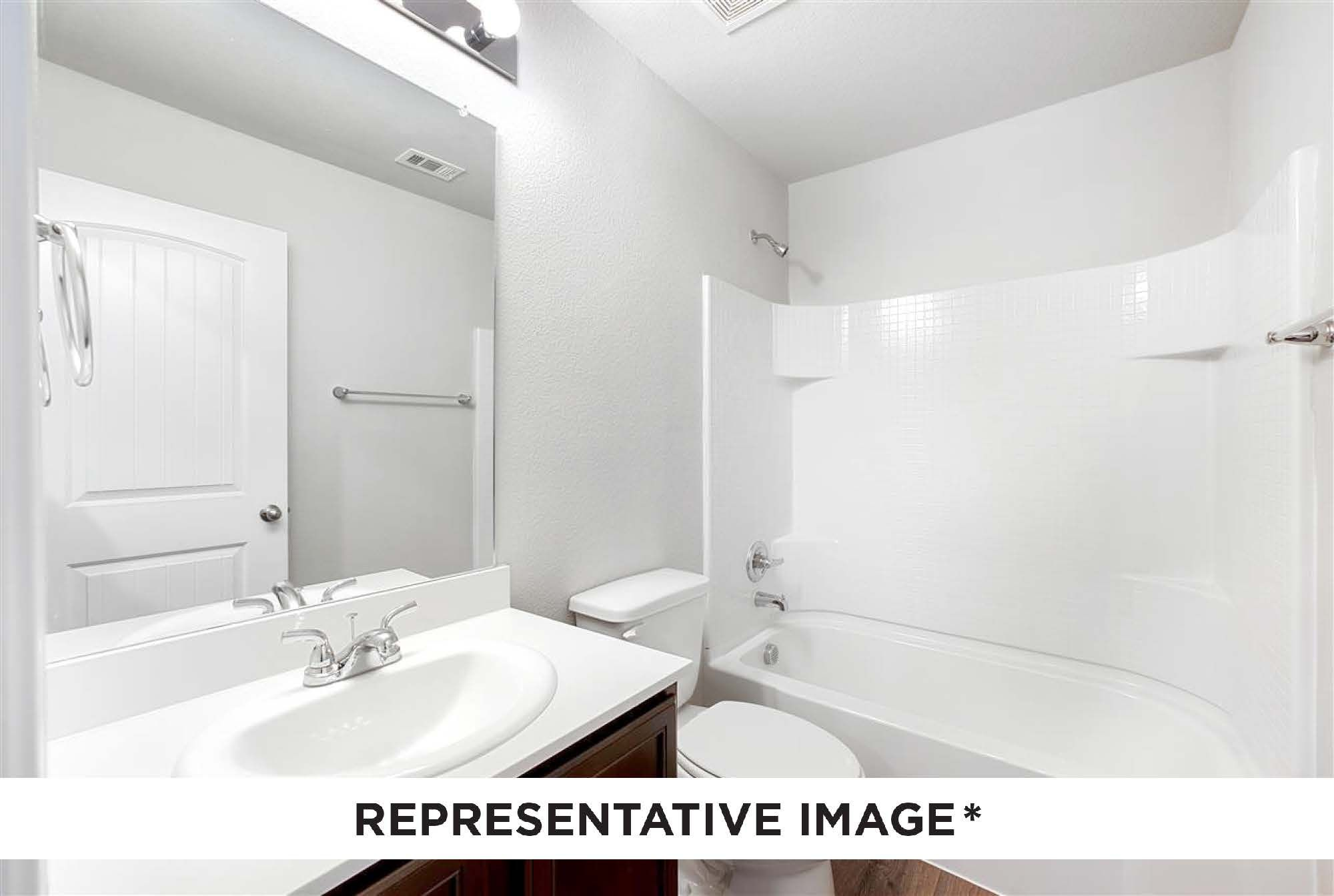 Bathroom featured in the Aspen By HistoryMaker Homes    in Sherman-Denison, TX