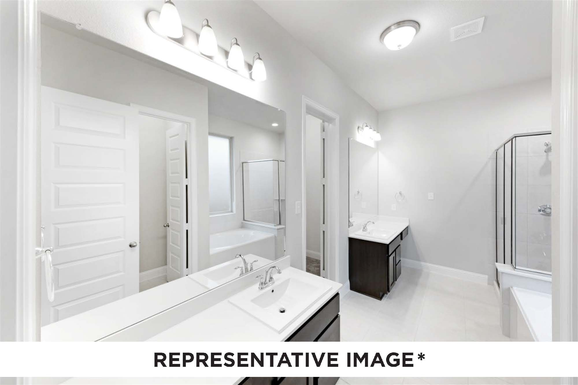 Bathroom featured in the Adams By HistoryMaker Homes    in Houston, TX