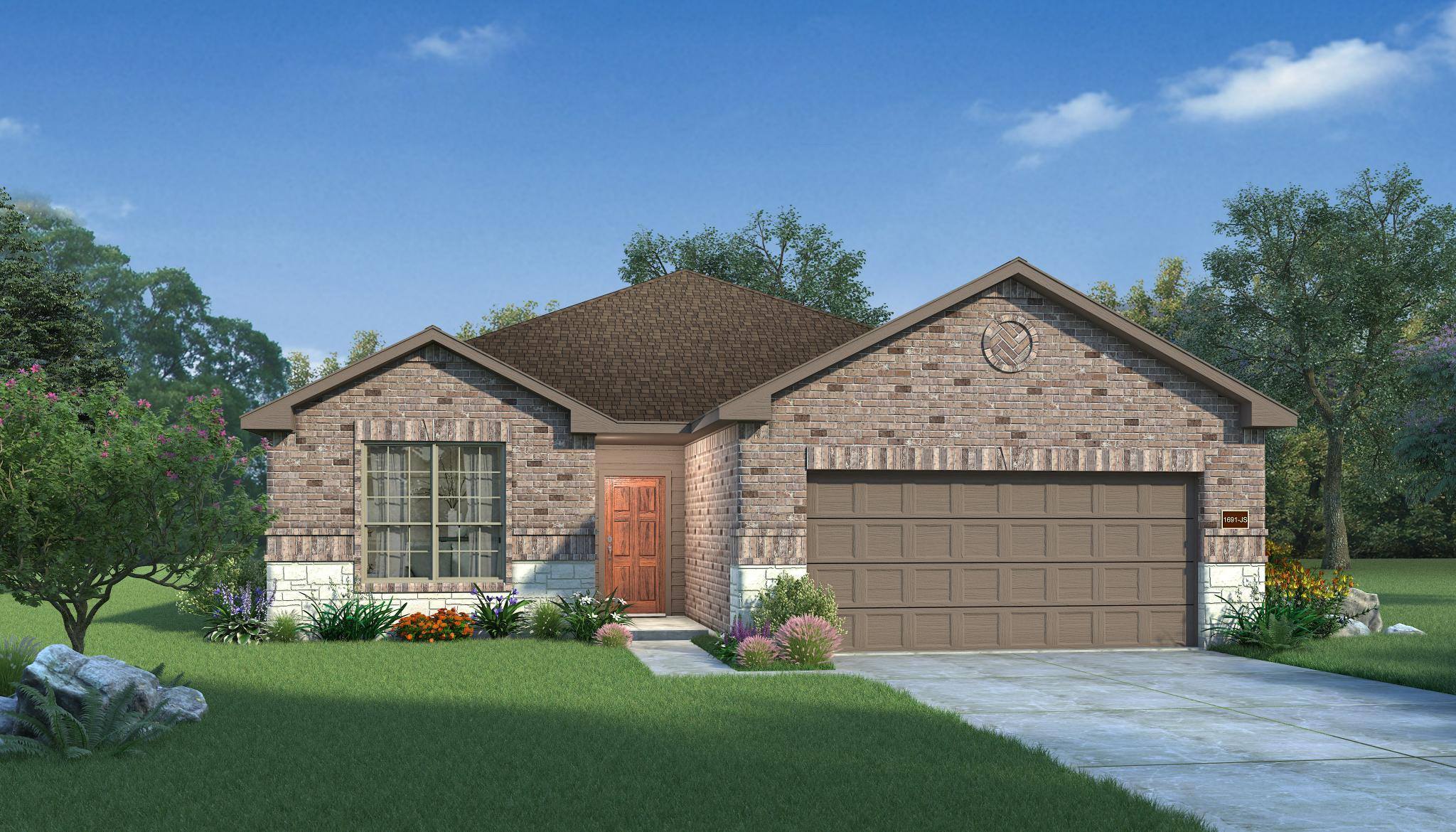 Exterior featured in the Redwood By HistoryMaker Homes    in Sherman-Denison, TX