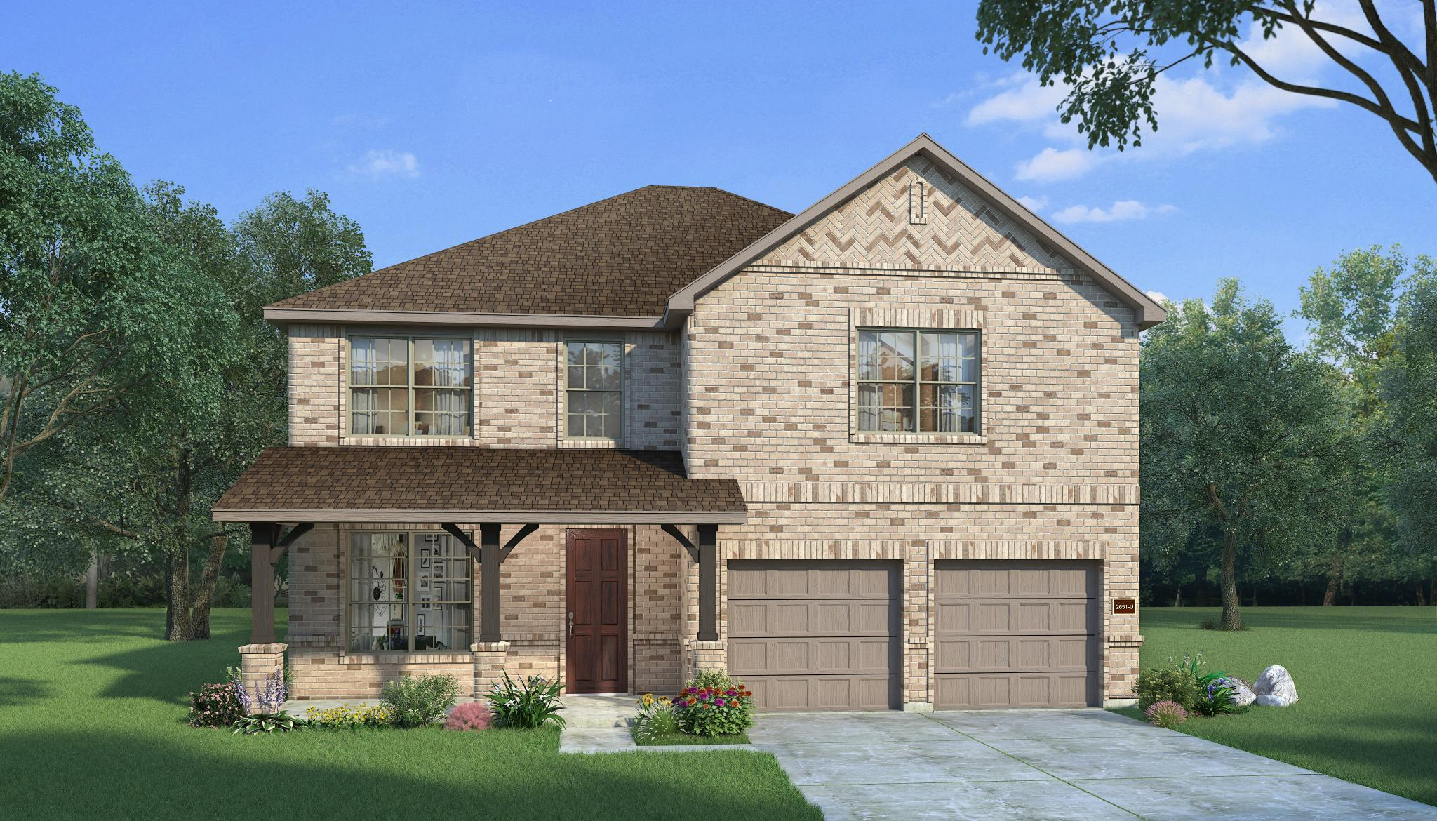 Exterior featured in the Teak By HistoryMaker Homes    in Fort Worth, TX