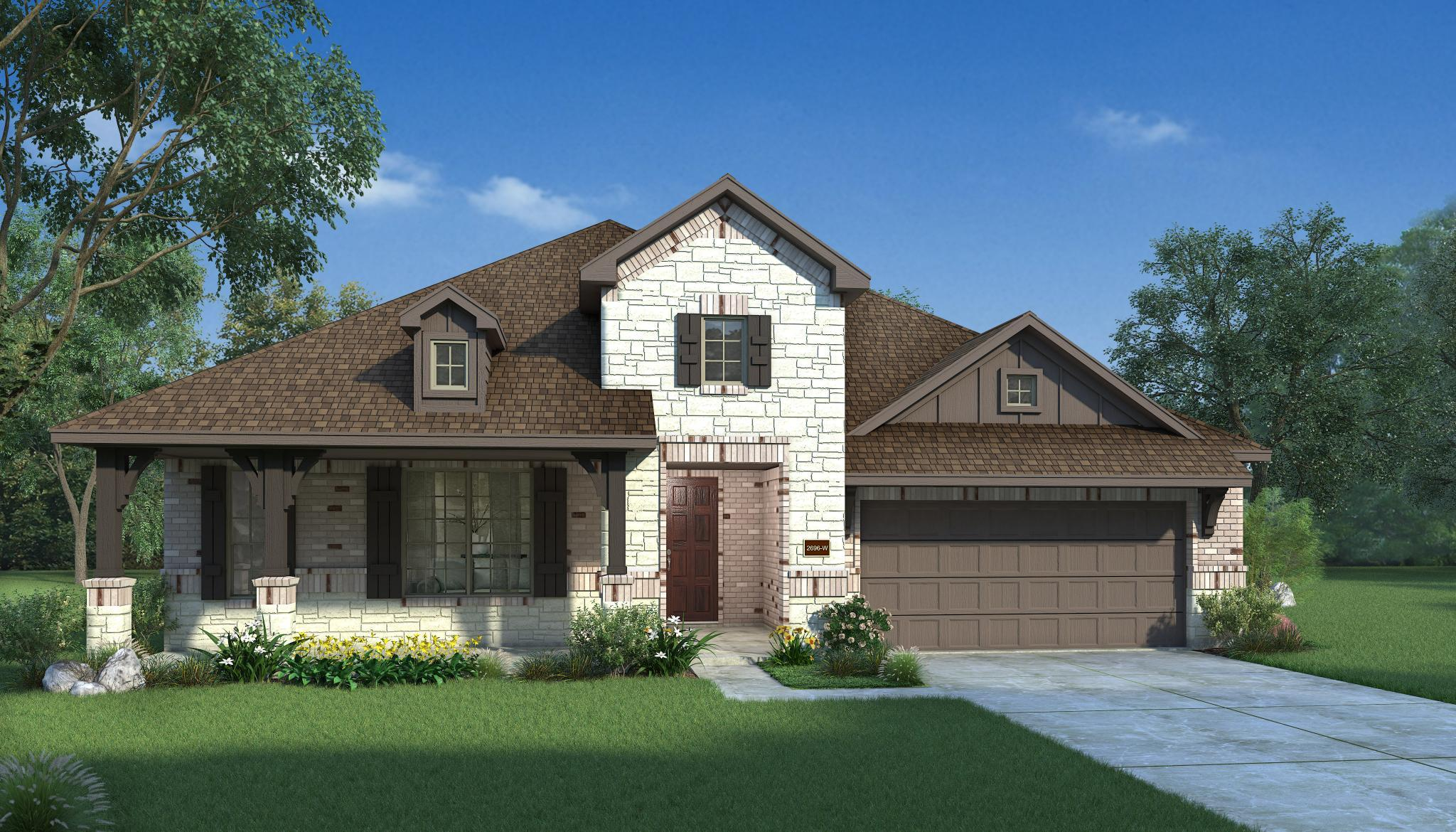 Exterior featured in the Monroe By HistoryMaker Homes    in Houston, TX