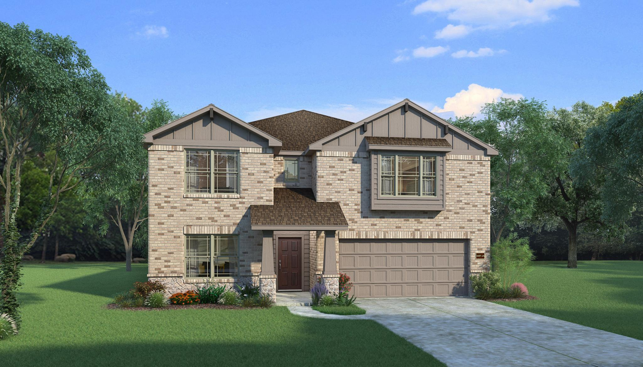 Exterior featured in the Axlewood By HistoryMaker Homes    in Dallas, TX