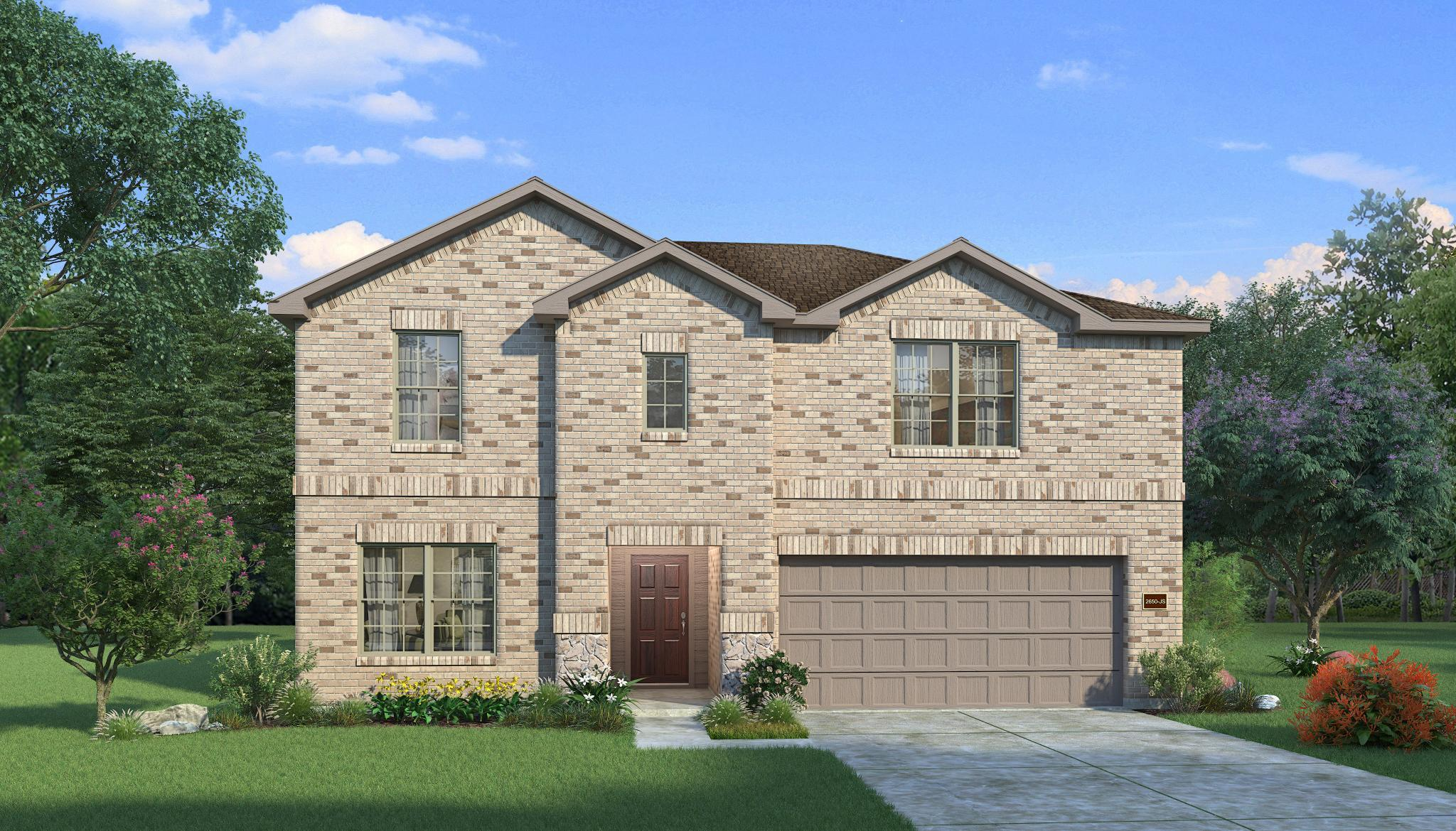 Exterior featured in the Hemlock By HistoryMaker Homes    in Fort Worth, TX
