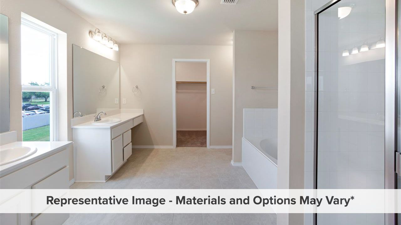 Bathroom featured in the Cambridge By HistoryMaker Homes    in Fort Worth, TX