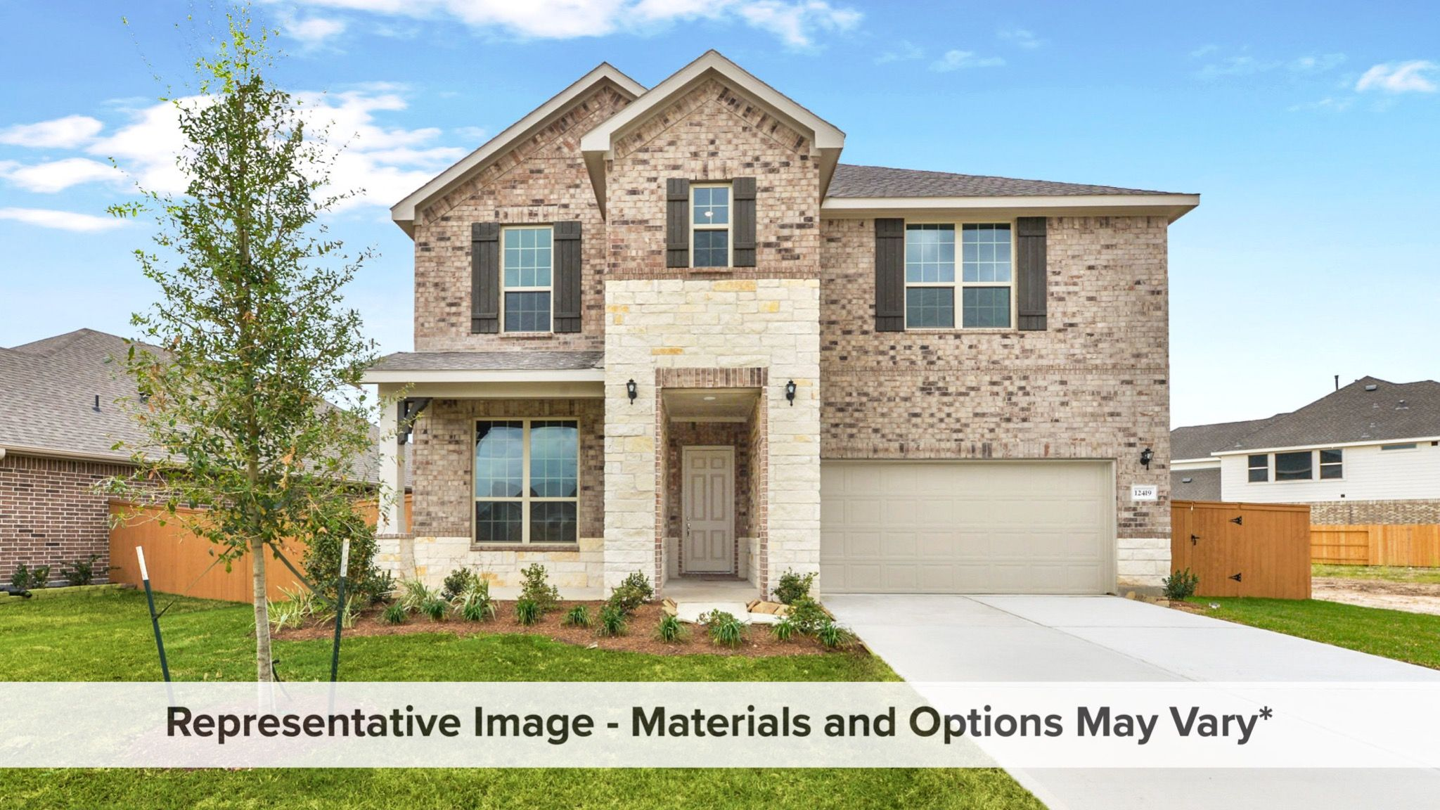 Exterior featured in the Hemlock By HistoryMaker Homes    in Houston, TX