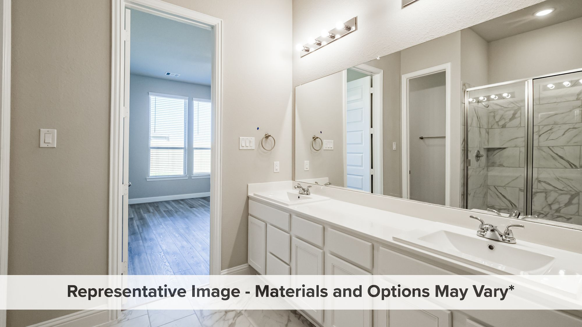 Bathroom featured in the Hemlock By HistoryMaker Homes    in Houston, TX