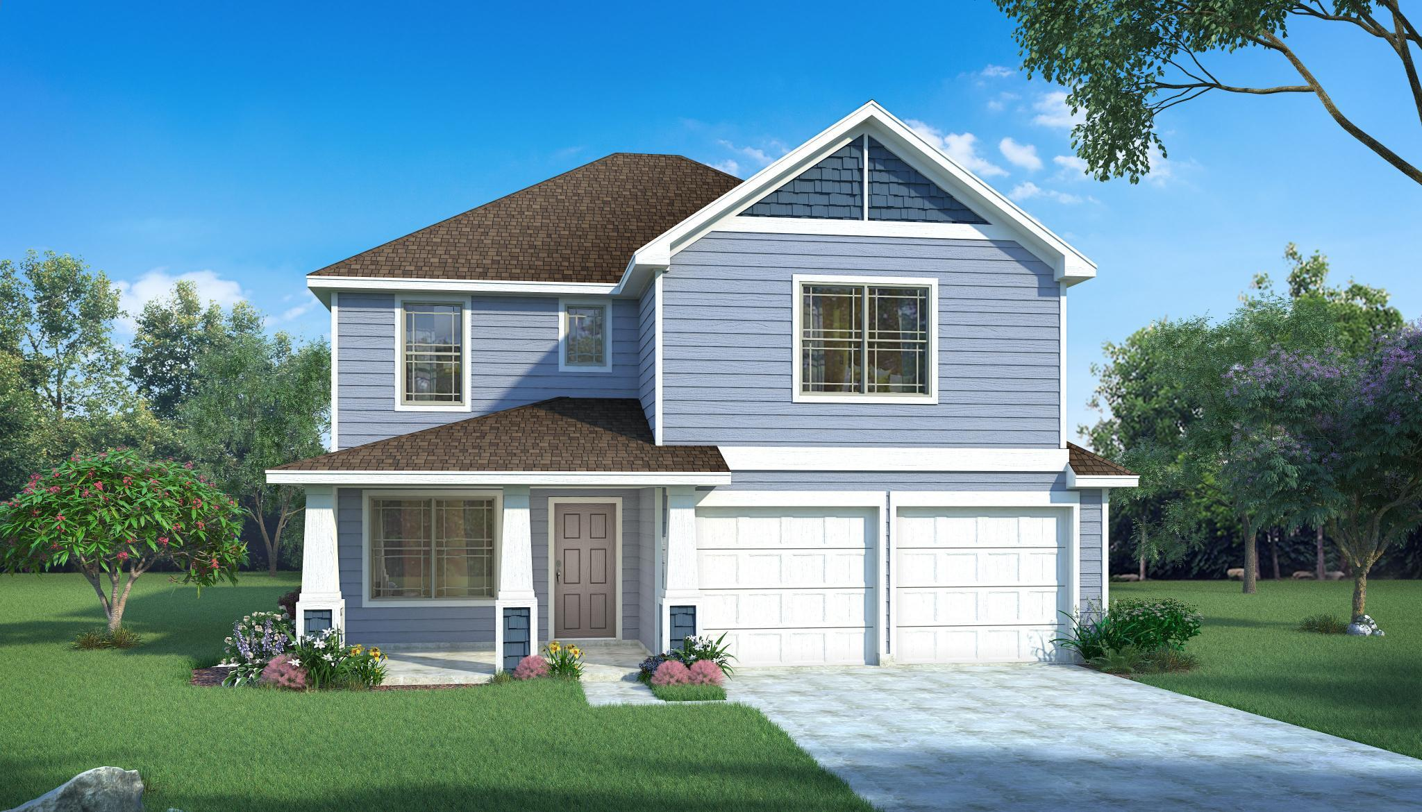 Exterior featured in the Hazel By HistoryMaker Homes    in Fort Worth, TX