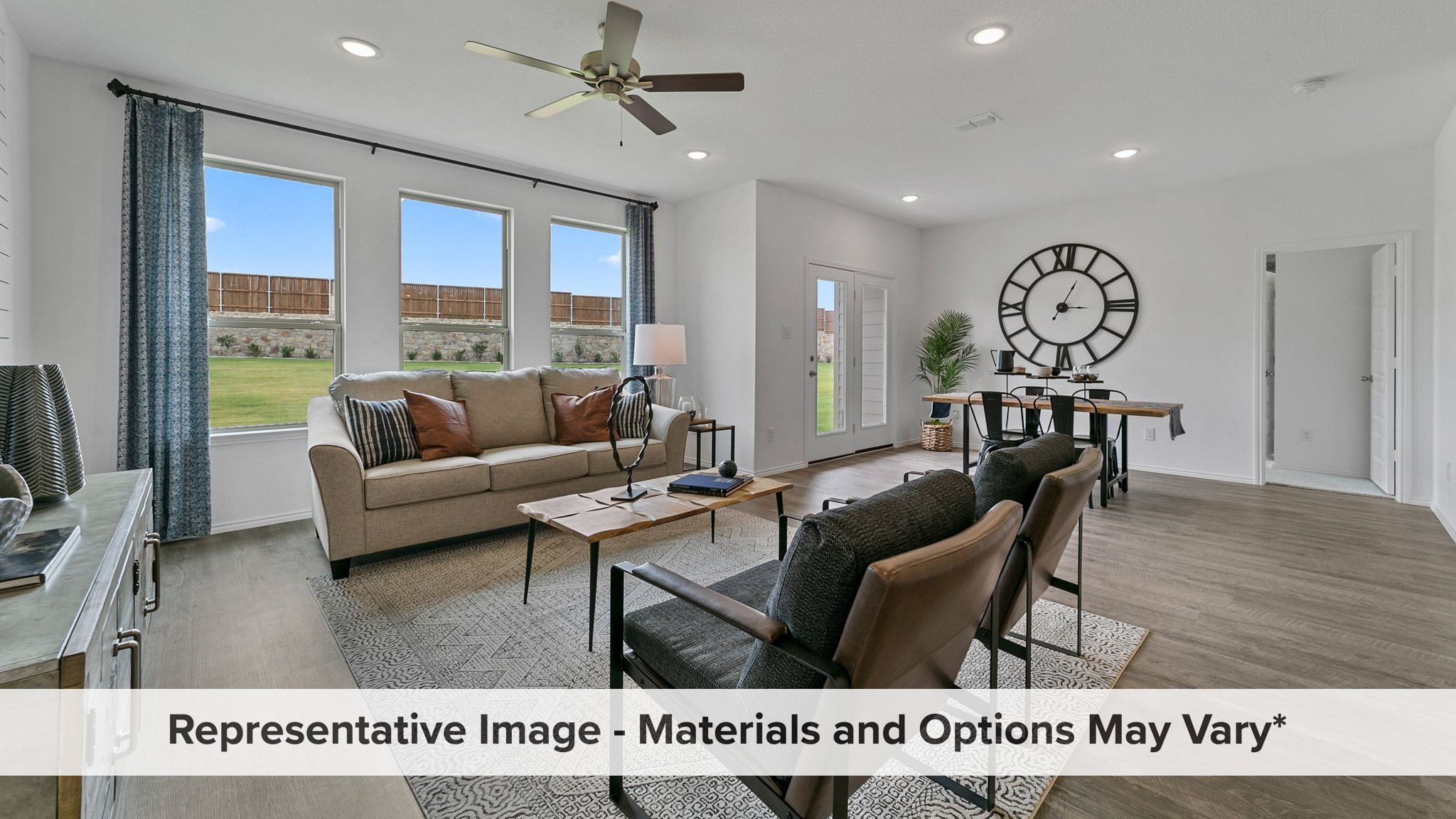 Living Area featured in the Cottonwood By HistoryMaker Homes    in Fort Worth, TX