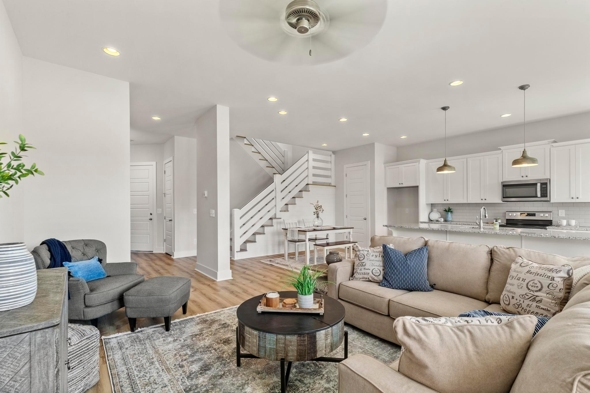 Living Area featured in the Townhome - 1 Car Interior Unit w/ Office By Holland Homes